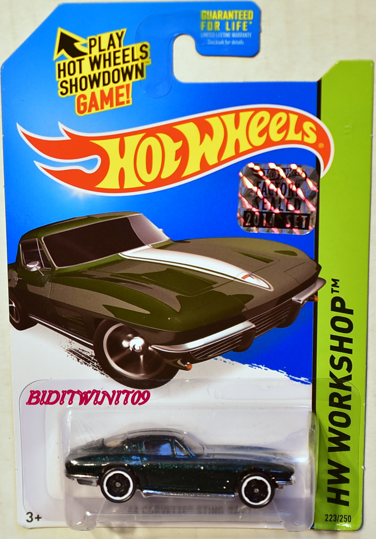 HOT WHEELS 2014 HW WORKSHOP '64 CORVETTE STING RAY FACTORY SEALED