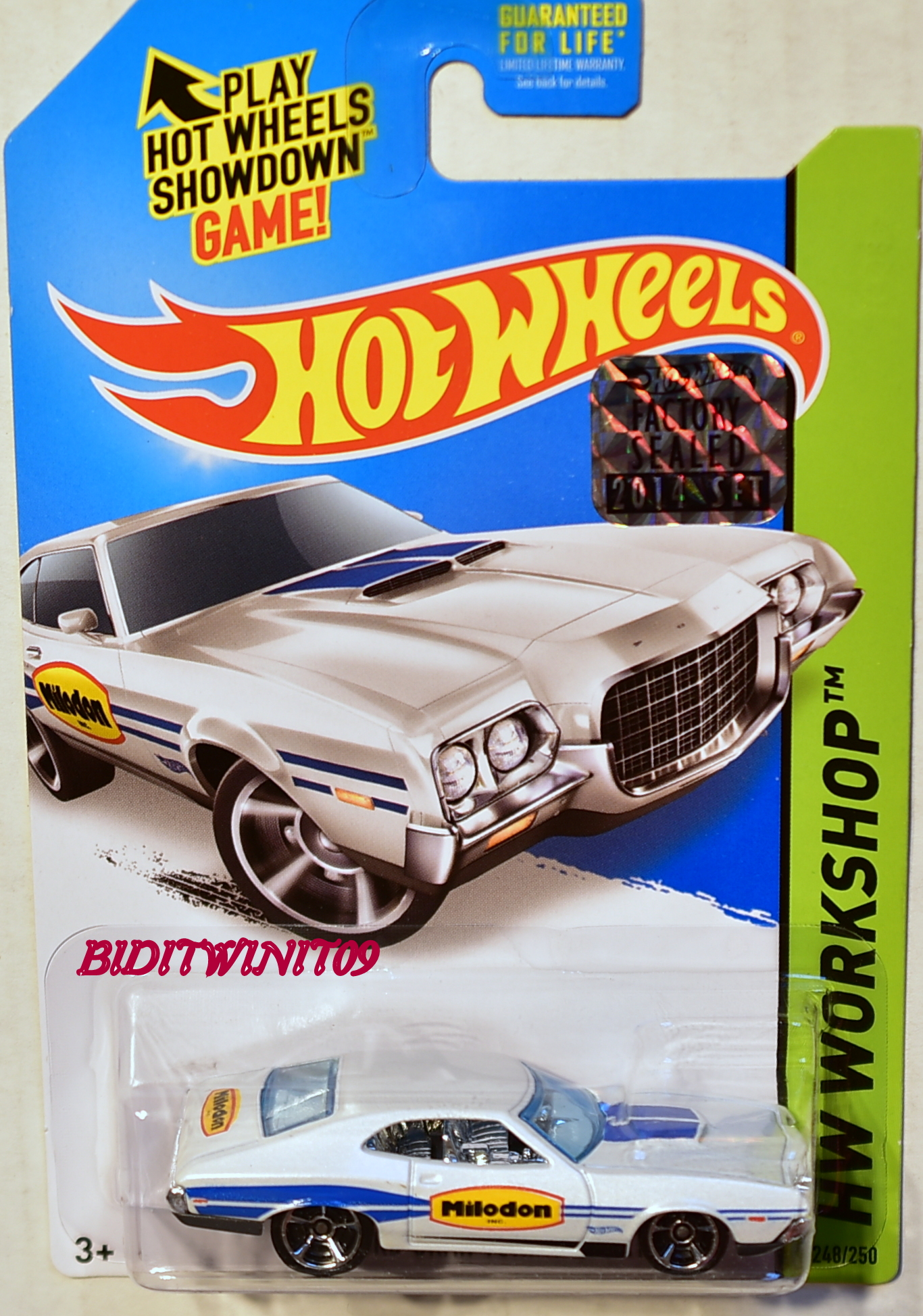 HOT WHEELS 2014 HW WORKSHOP '72 FORD GRAN TORINO SPORT FACTORY SEALED WHITE
