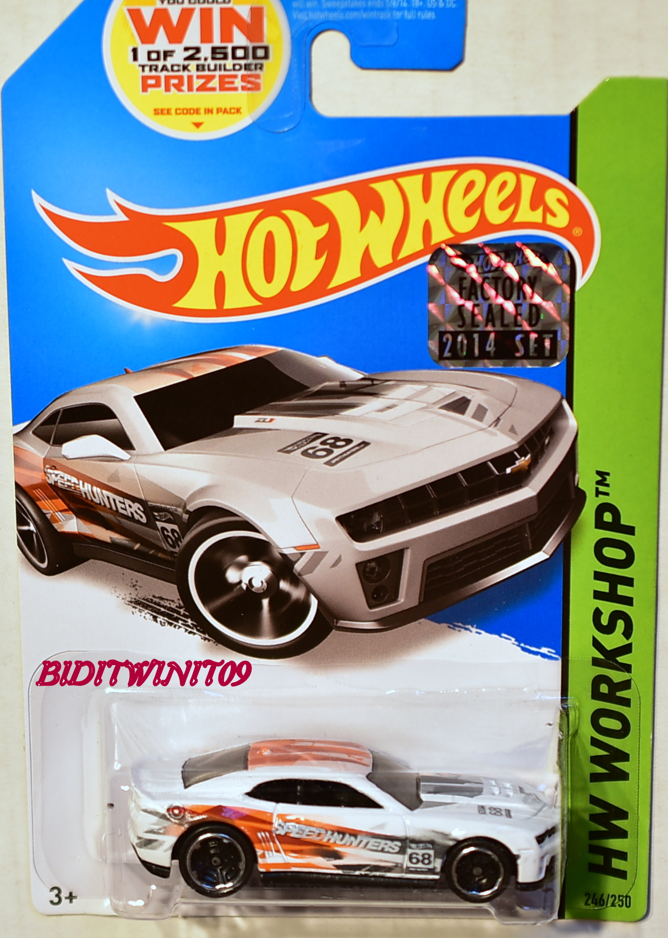 HOT WHEELS 2014 HW WORKSHOP '12 CAMARO ZL1 CONCEPT FACTORY SEALED