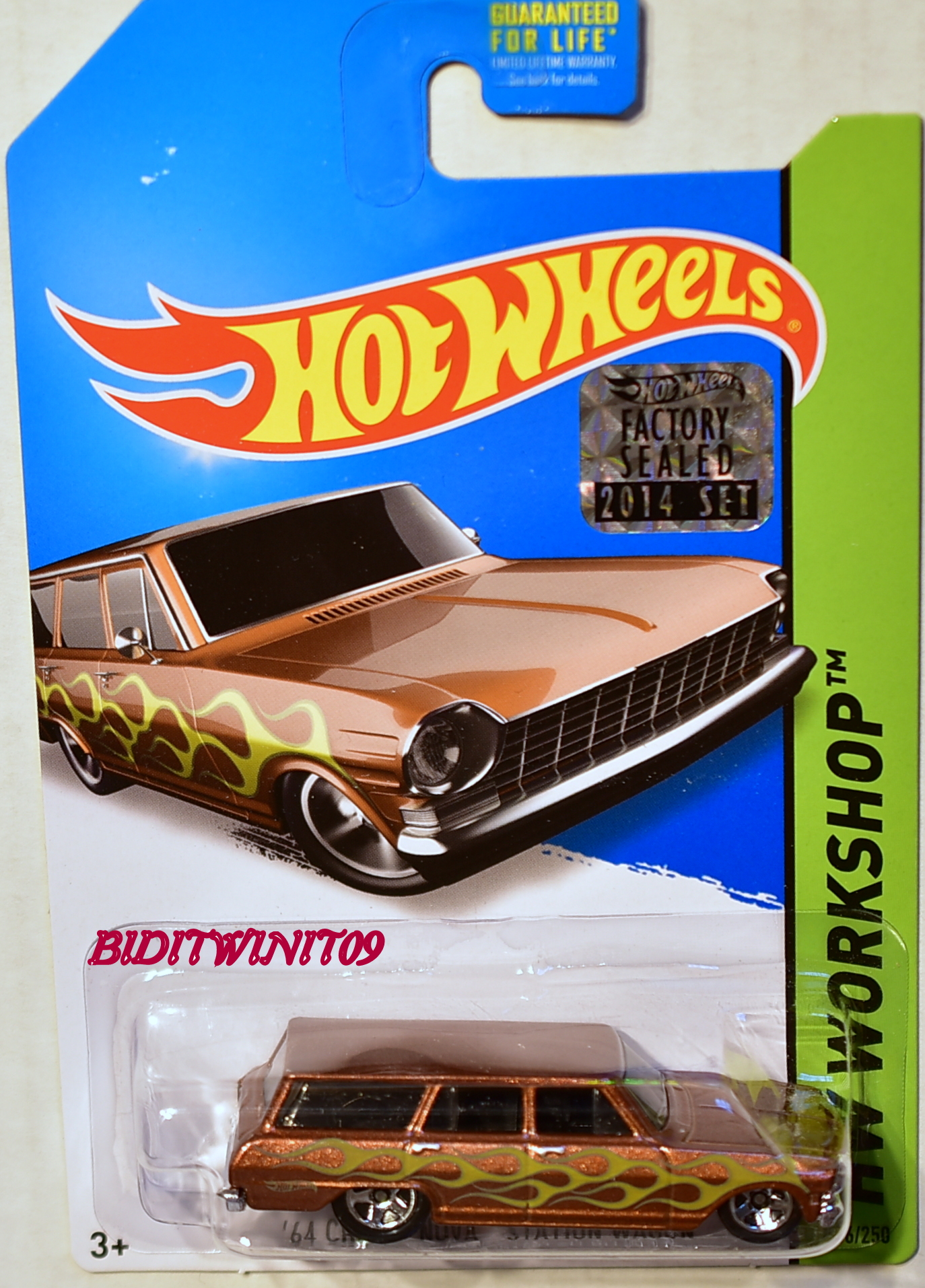 HOT WHEELS 2014 HW WORKSHOP '64 CHEVY NOVA STATION WAGON FACTORY SEALED