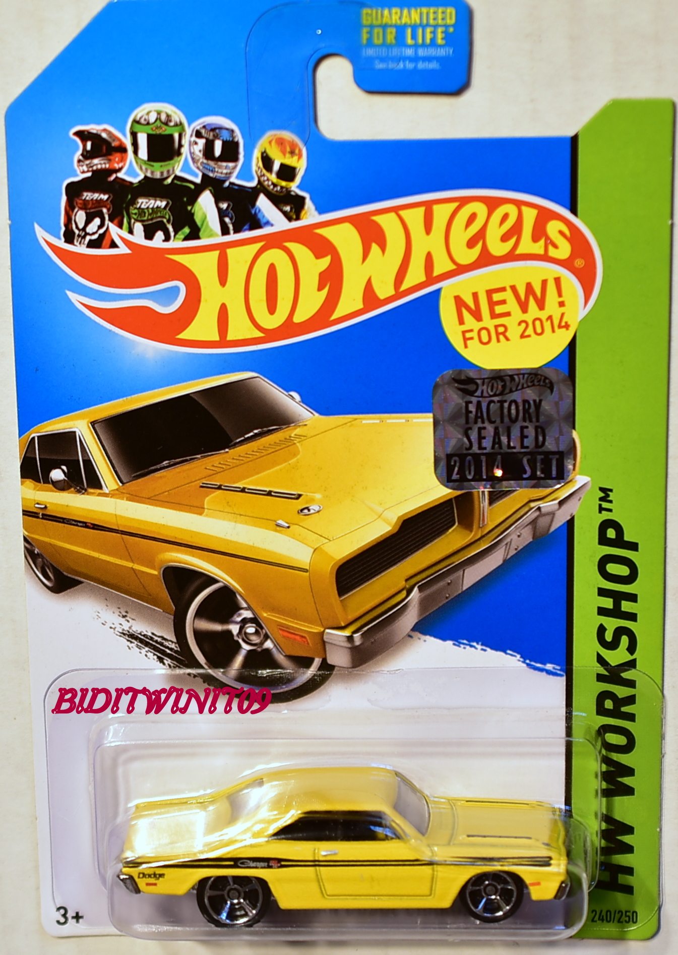 HOT WHEELS 2014 HW WORKSHOP 1974 BRAZILIAN DODGE CHARGER YELLOW FACTORY SEALED