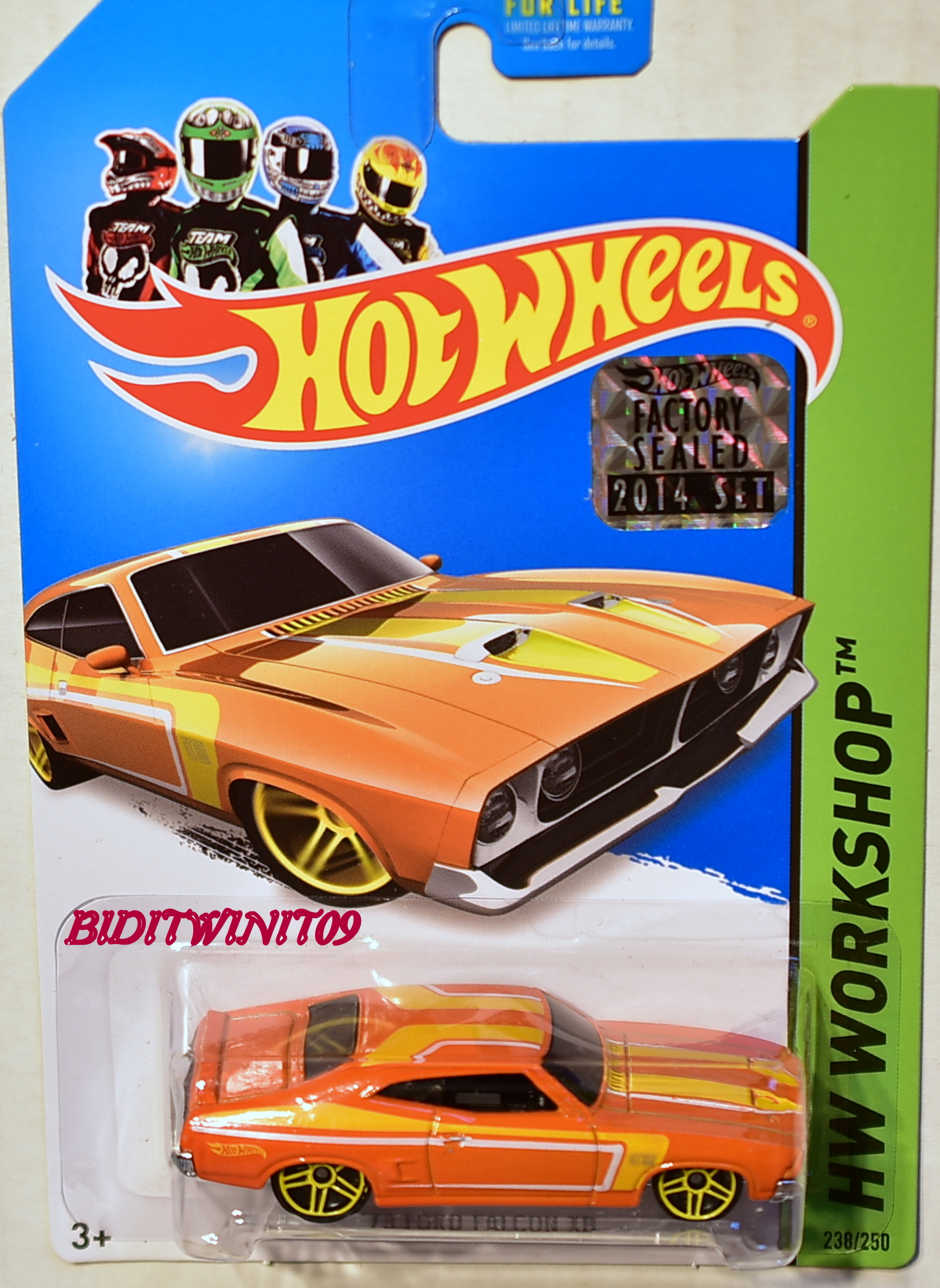 HOT WHEELS 2014 HW WORKSHOP '73 FORD FALCON XB ORANGE FACTORY SEALED E+