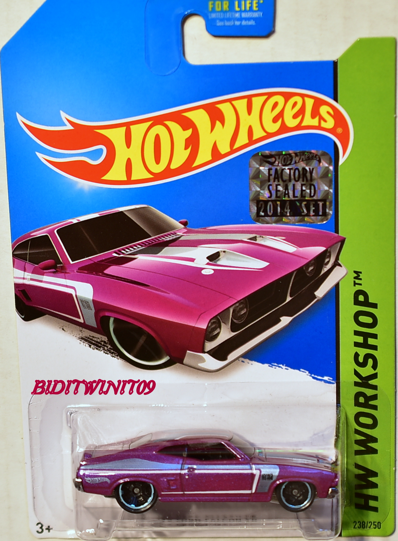 HOT WHEELS 2014 HW WORKSHOP '73 FORD FALCON XB PURPLE FACTORY SEALED