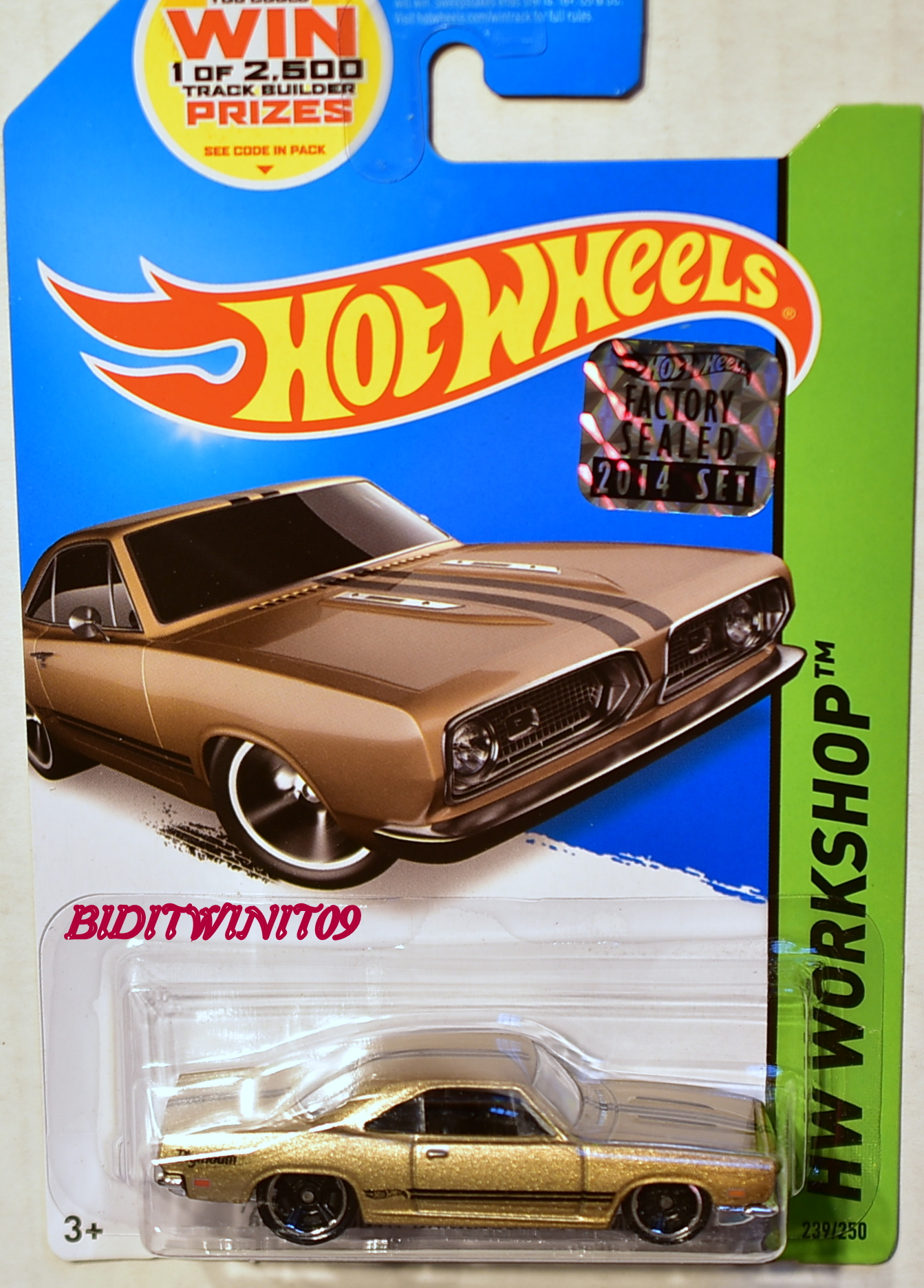 HOT WHEELS 2014 HW WORKSHOP '68 PLYMOUTH BARRACUDA FORMULA S FACTORY SEALED
