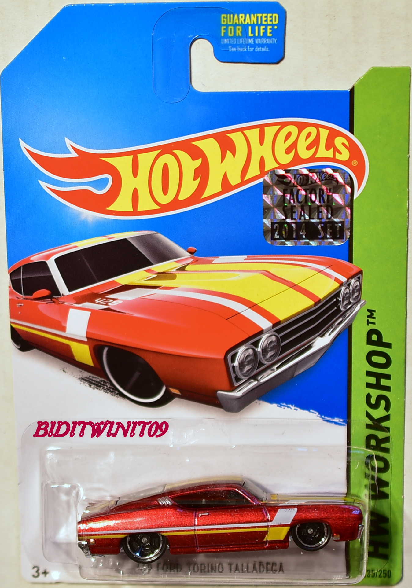 HOT WHEELS 2014 HW WORKSHOP '69 FORD TORINO TALLADEGA RED FACTORY SEALED