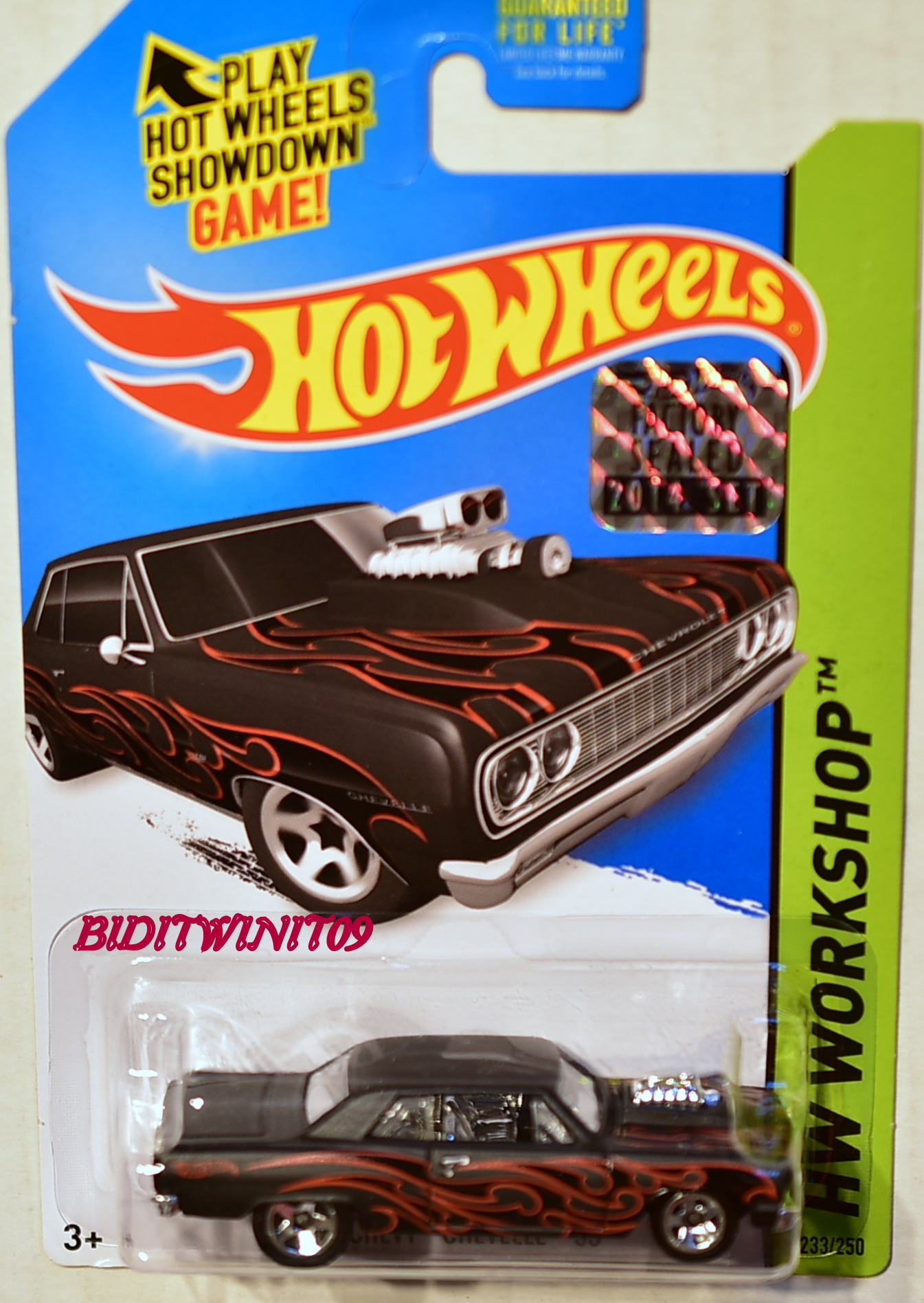 HOT WHEELS 2014 HW WORKSHOP '64 CHEVY CHEVELLE SS BLACK FACTORY SEALED