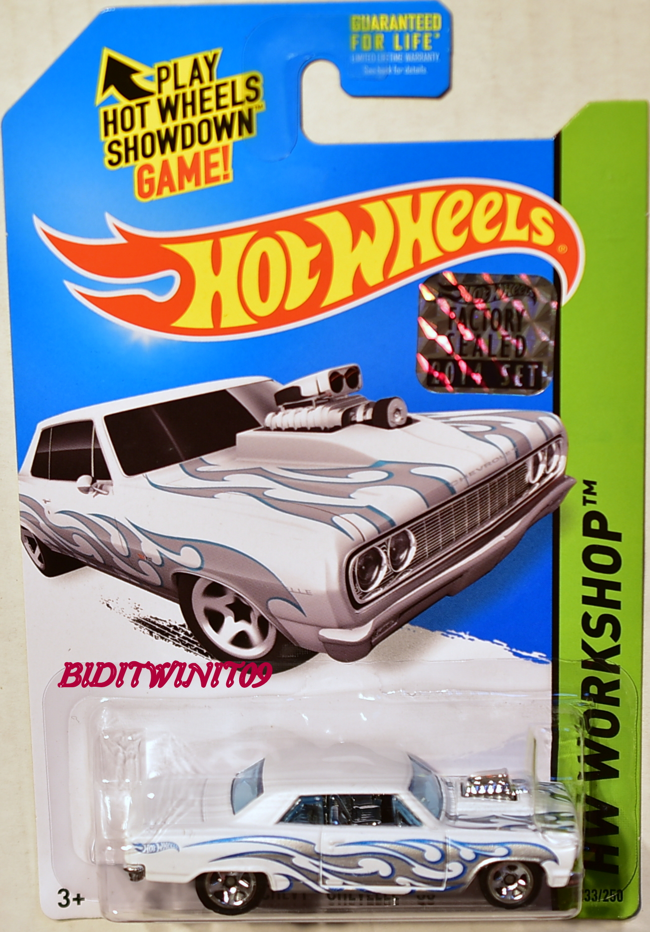 HOT WHEELS 2014 HW WORKSHOP '64 CHEVY CHEVELLE SS FACTORY SEALED WHITE