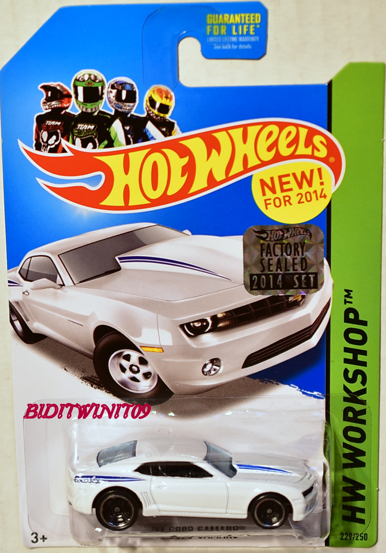 HOT WHEELS 2014 HW WORKSHOP '14 COPO CAMARO FACTORY SEALED