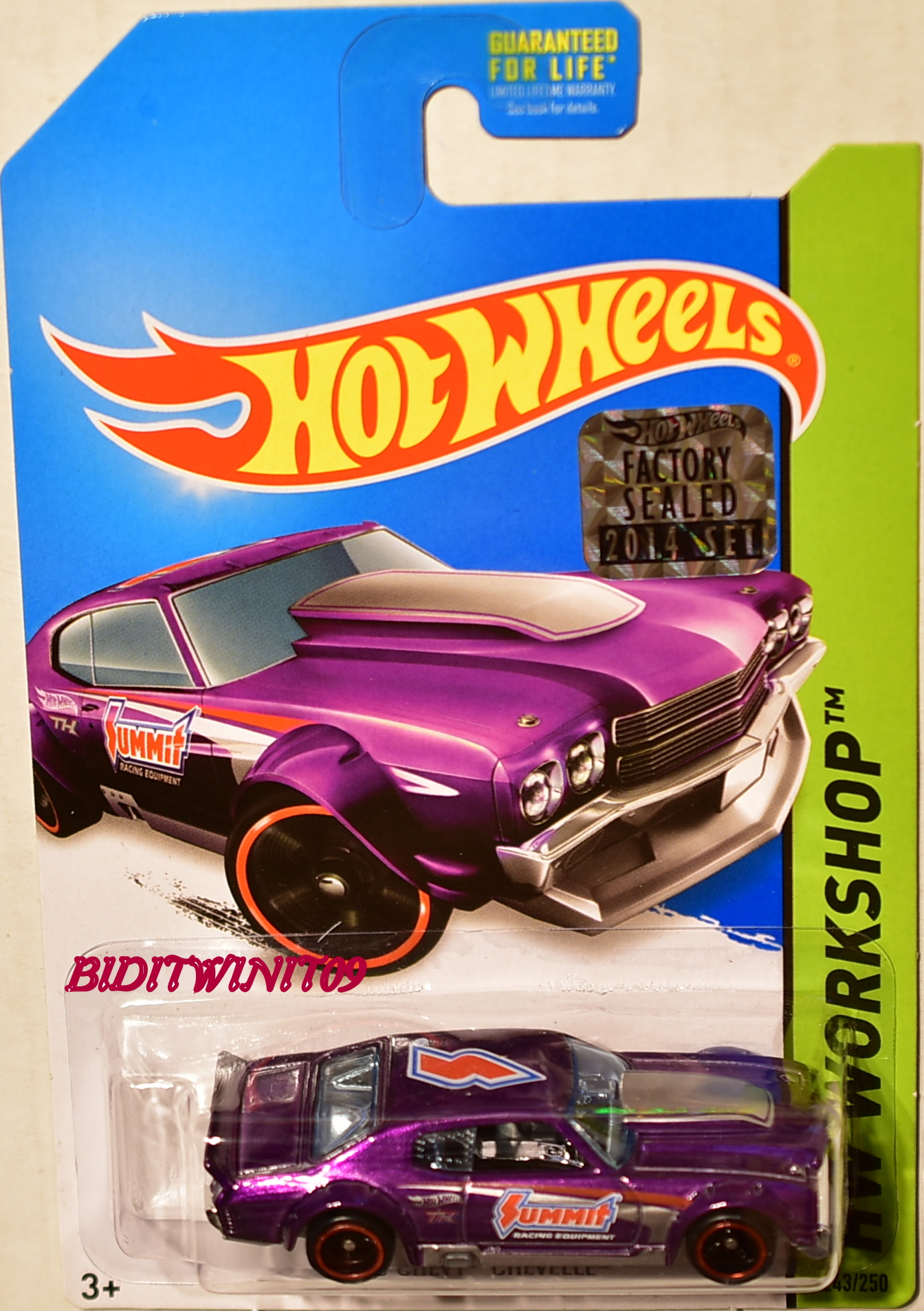 HOT WHEELS 2014 SUPER TREASURE HUNT '70 CHEVY CHEVELLE FACTORY SEALED