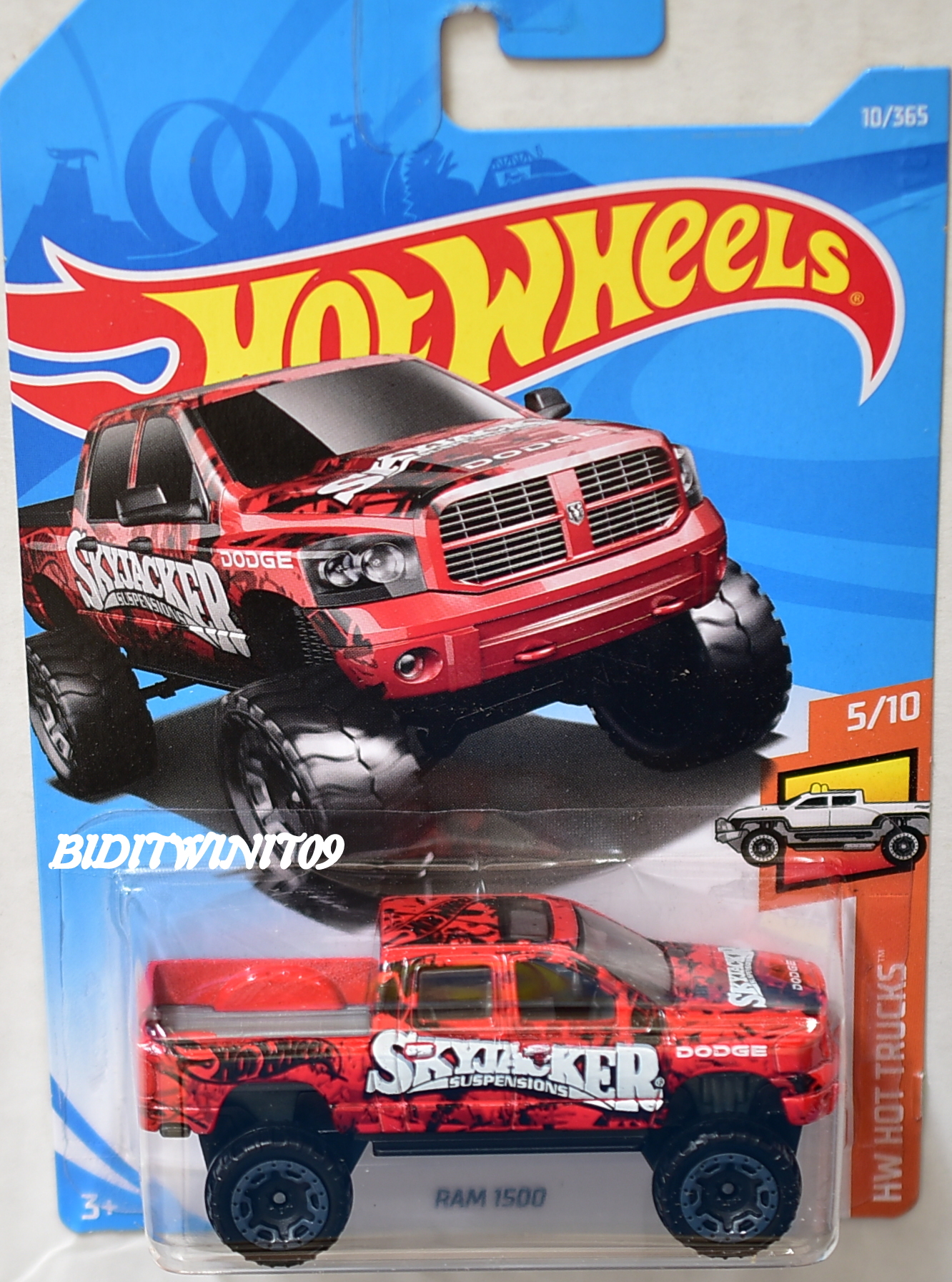 hot wheels 2018 hw hot trucks ram 1500 skyjacker 5 10 0003502. Black Bedroom Furniture Sets. Home Design Ideas