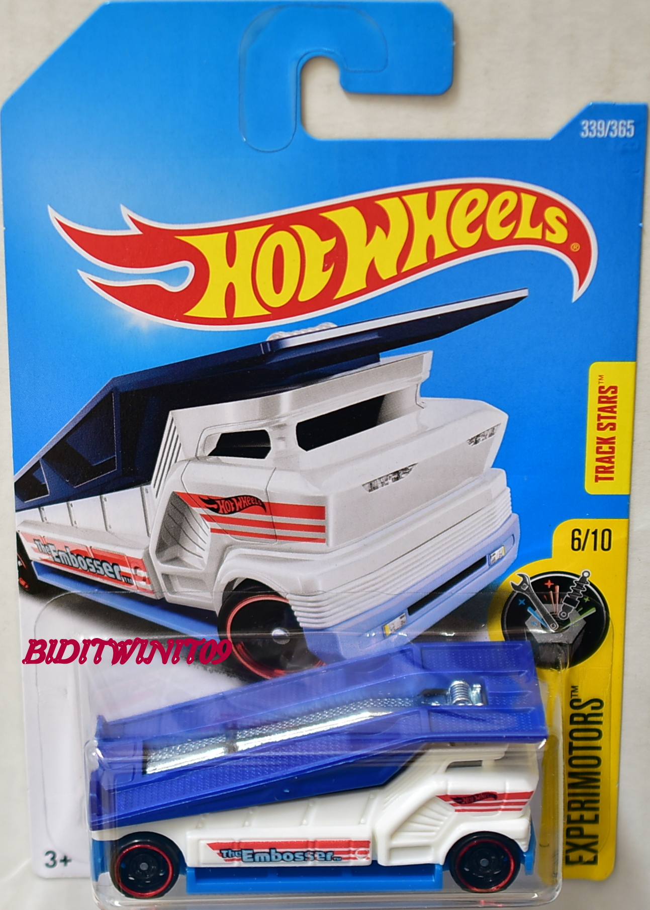 Hot Wheels 2017 Experimotors The Embosser White 0003525 2 74 Biditwinit09 Com Classic
