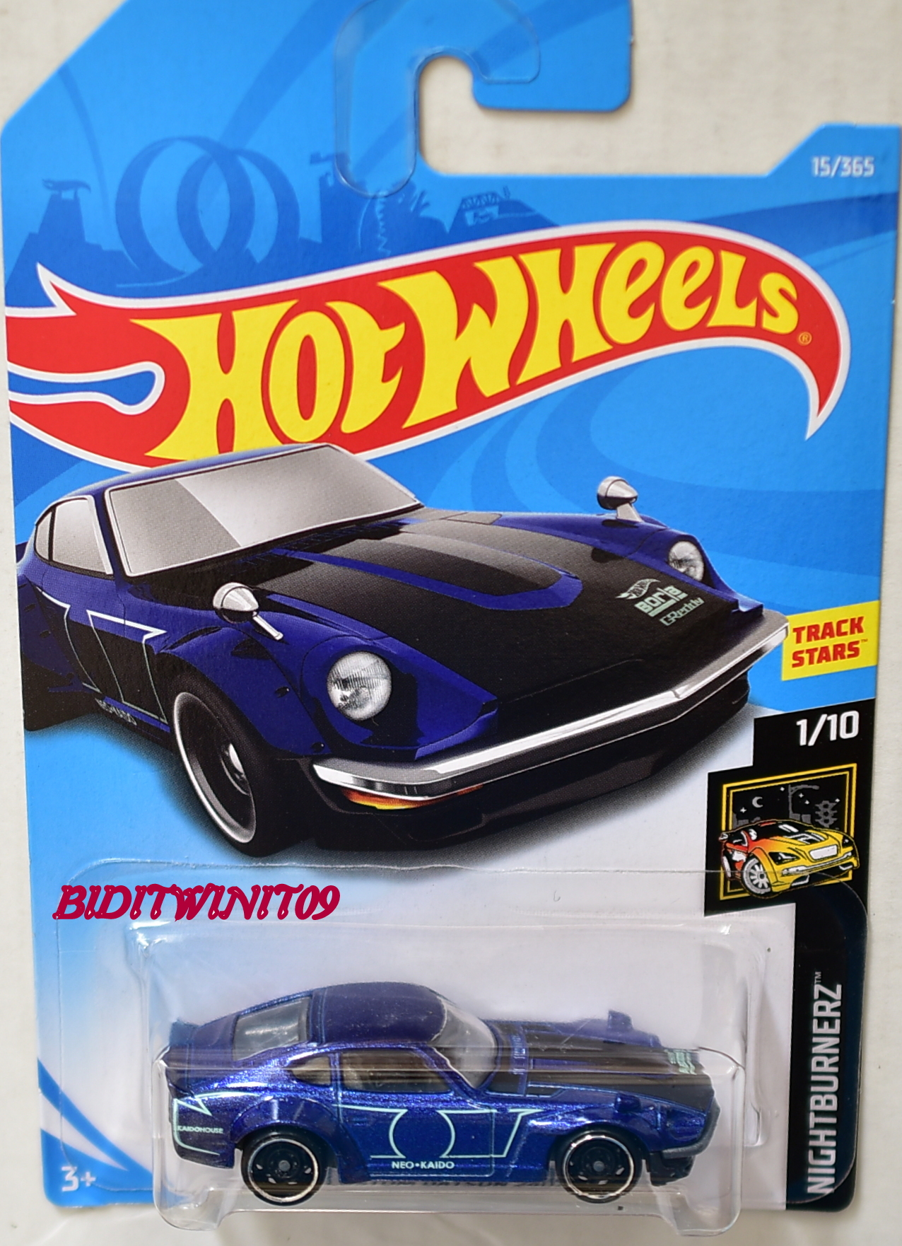 hot wheels 2018 nightburnerz custom datsun 240z blue 0003520. Black Bedroom Furniture Sets. Home Design Ideas