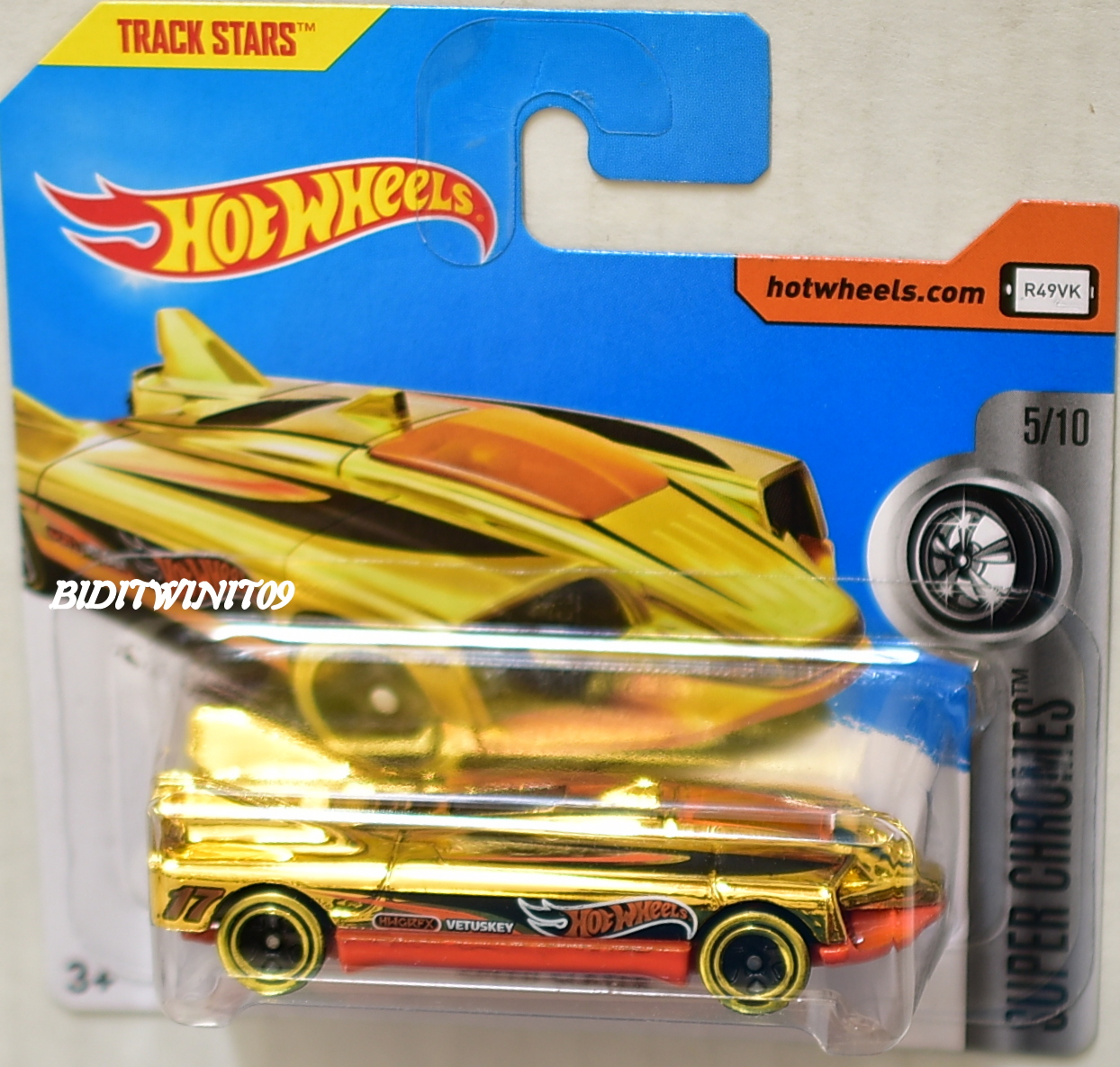 HOT WHEELS 2017 SUPER CHROMES SPEED SLAYER SHORT CARD