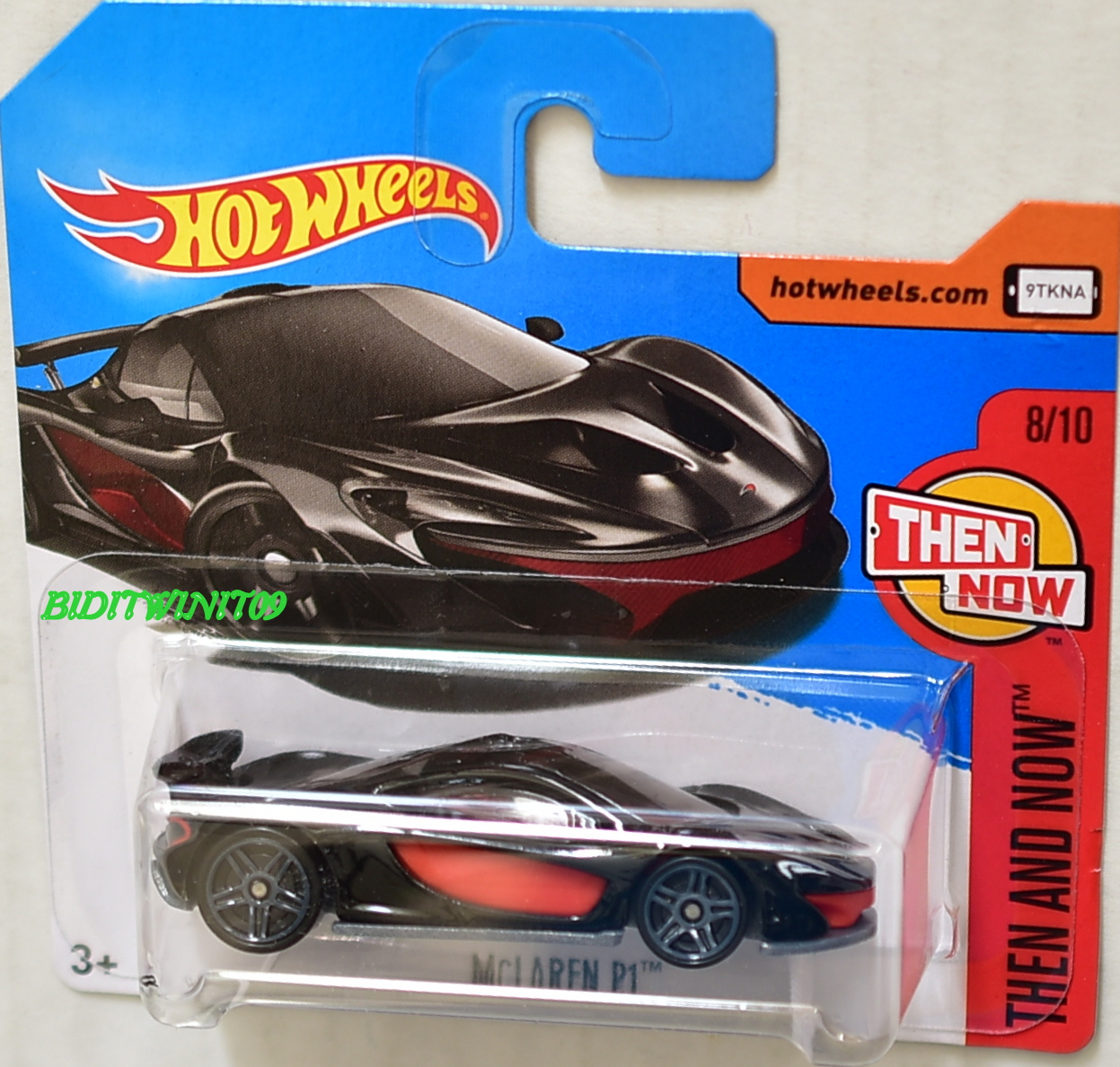 HOT WHEELS 2017 THEM AND NOW MCLAREN P1 SHORT CARD