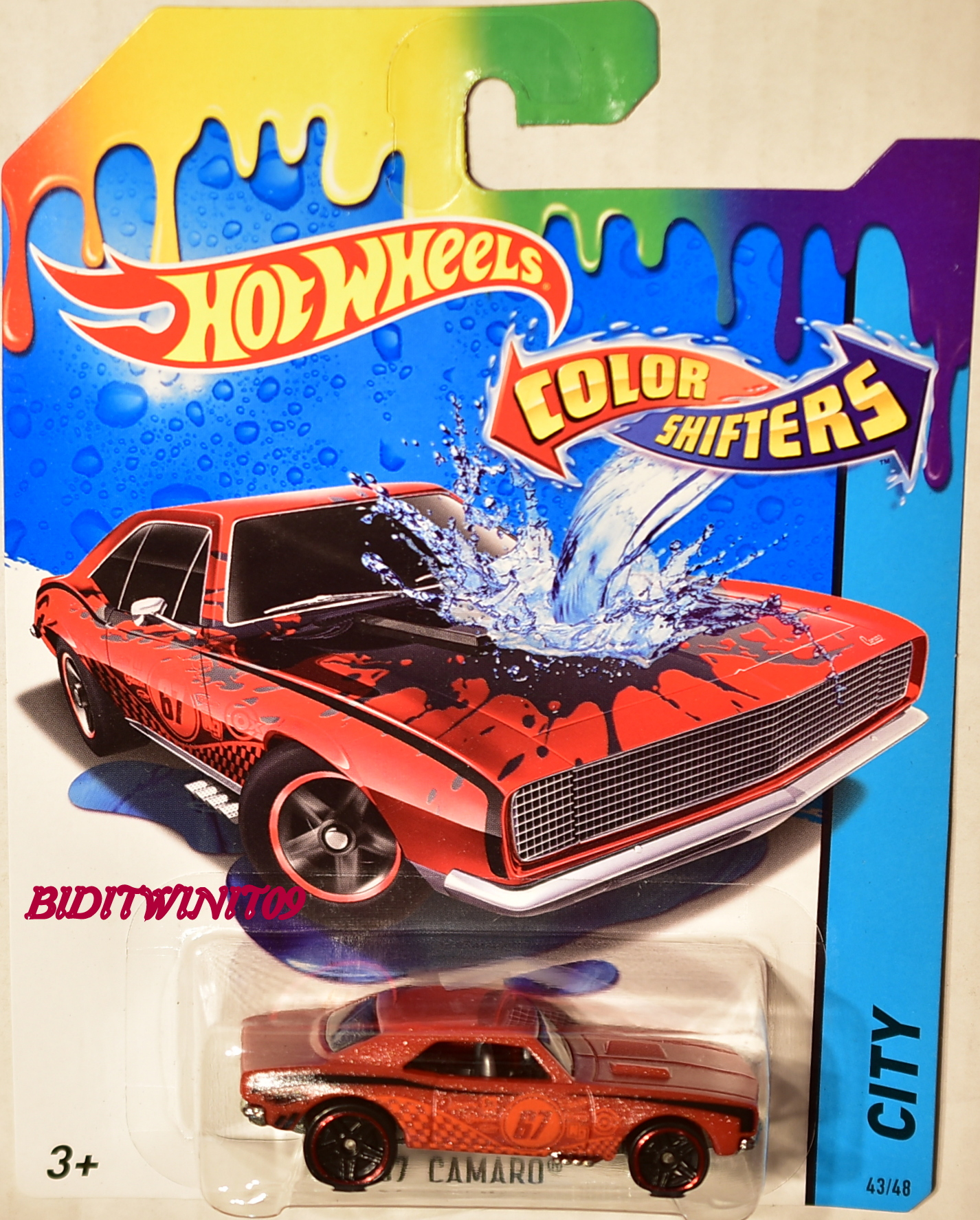 HOT WHEELS 2017 COLOR SHIFTERS '67 CAMARO RED