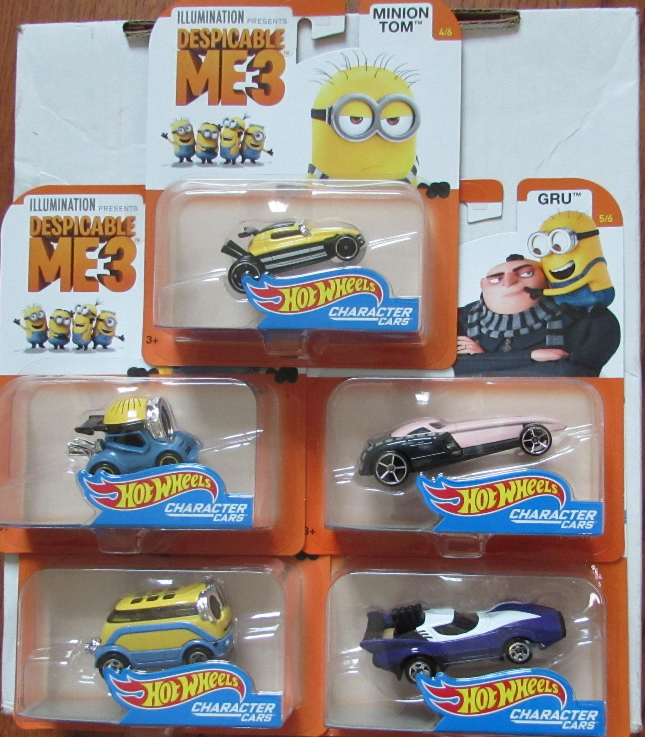 HOT WHEELS 2017 ILLUMINATION DESPICABLE ME 3 COMPLETE SET OF 5