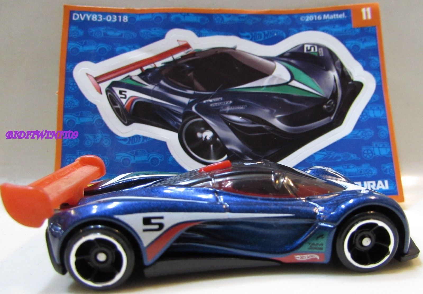 HOT WHEELS 2017 #11 MAZDA FURAI MYSTERY