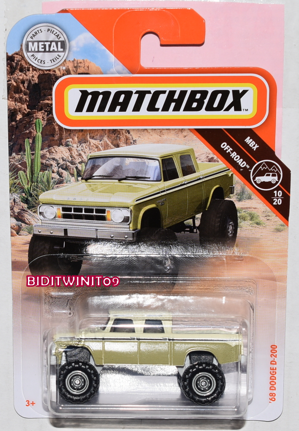 MATCHBOX 2019 MBX OFF-ROAD '68 DODGE D-200 GOLD