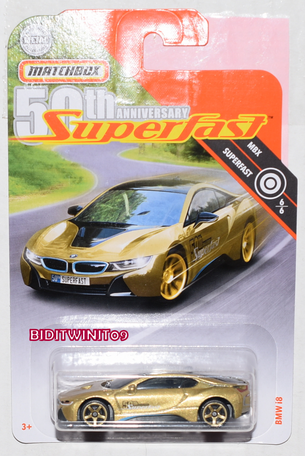 MATCHBOX 2019 MBX SUPERFAST BMW I8 GOLD
