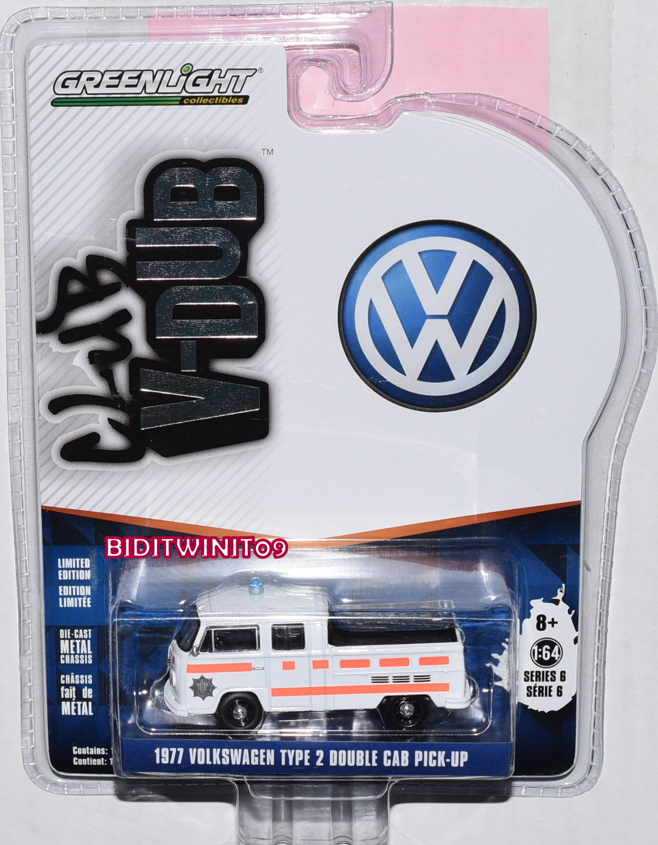 GREENLIGHT CLUB V-DUB 2018 SERIES 6 1977 VOLKSWAGEN TYPE 2 DOUBLE CAB PICK-UP