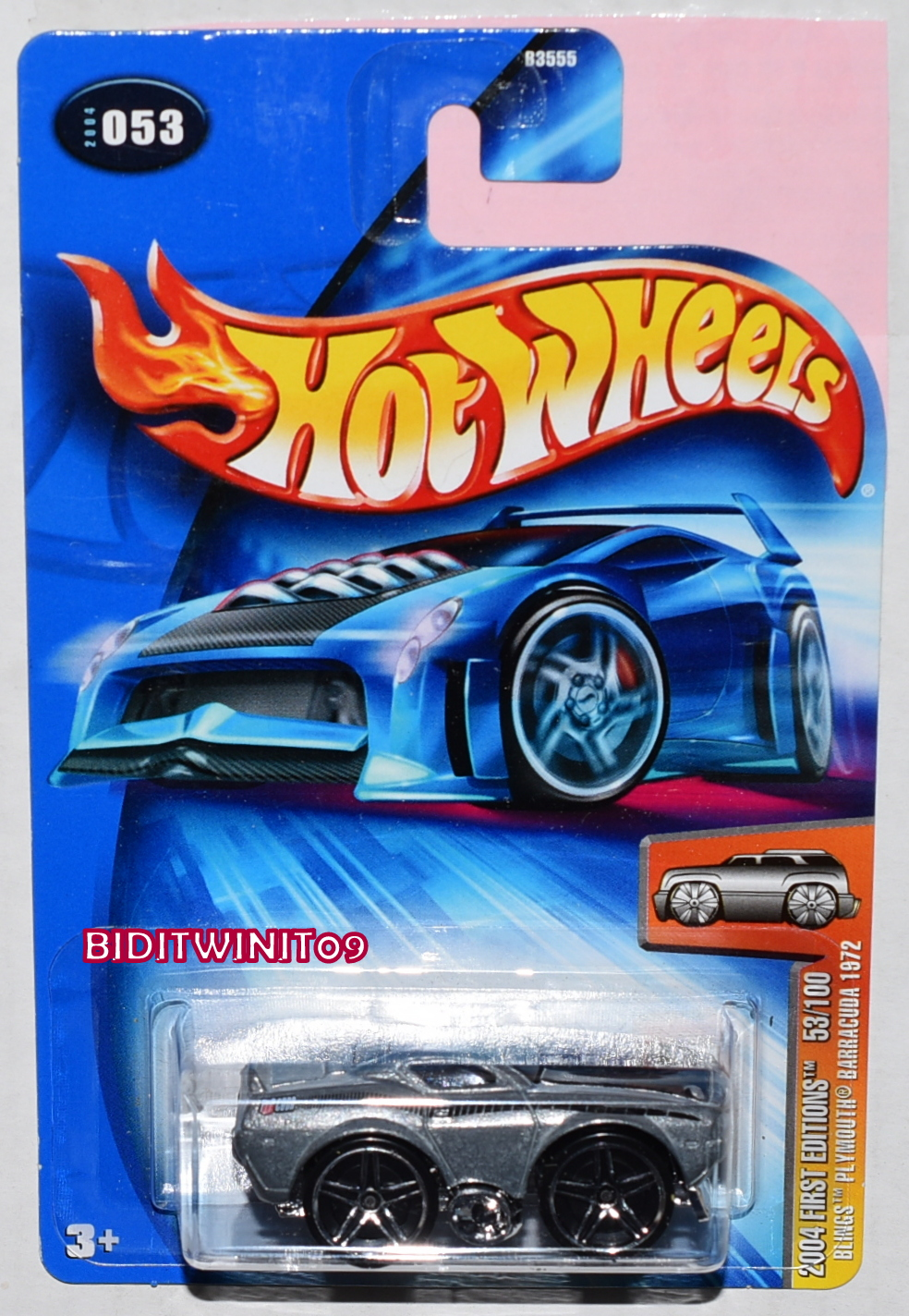 HOT WHEELS 2004 FIRST EDITIONS BLINGS PLYMOUTH BARRACUDA 1972 ZAMAC