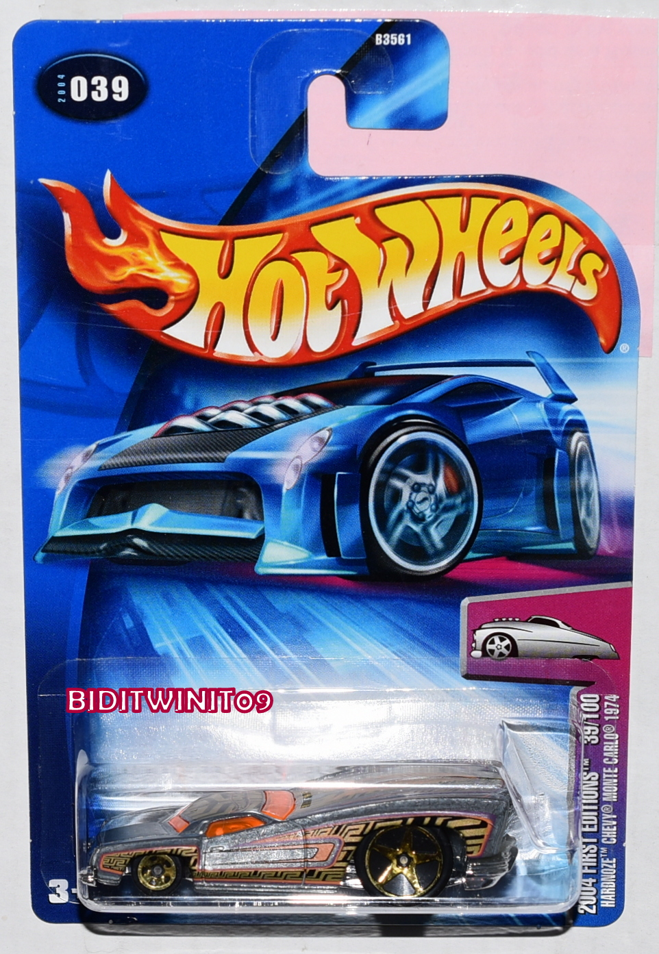 HOT WHEELS 2004 FIRST EDITIONS HARDNOZE CHEVY MONTE CARLO 1974 ZAMAC