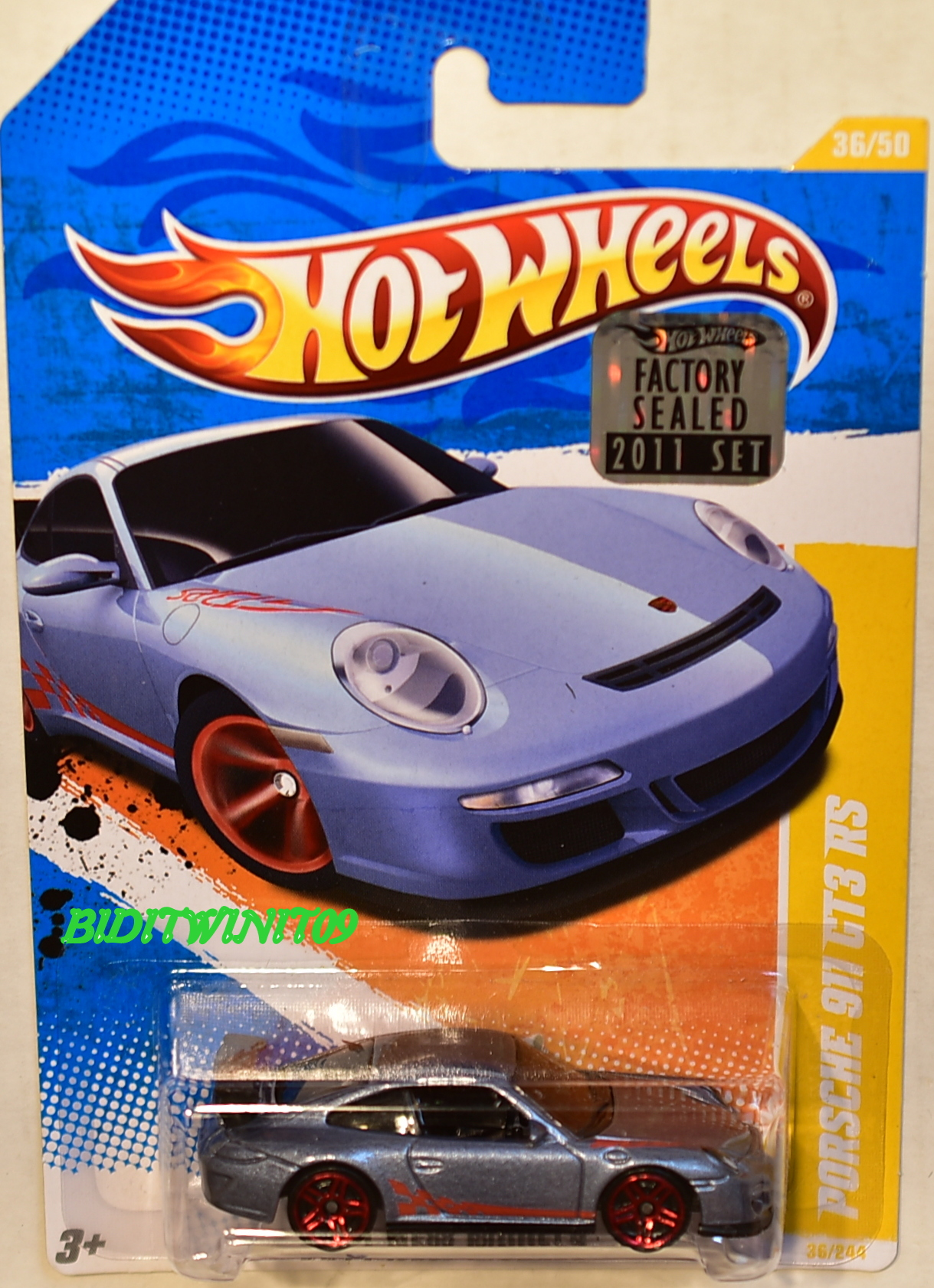 HOT WHEELS 2011 NEW MODELS PORSCHE 911 GT3 RS #36/50 GREY FACTORY SEALED