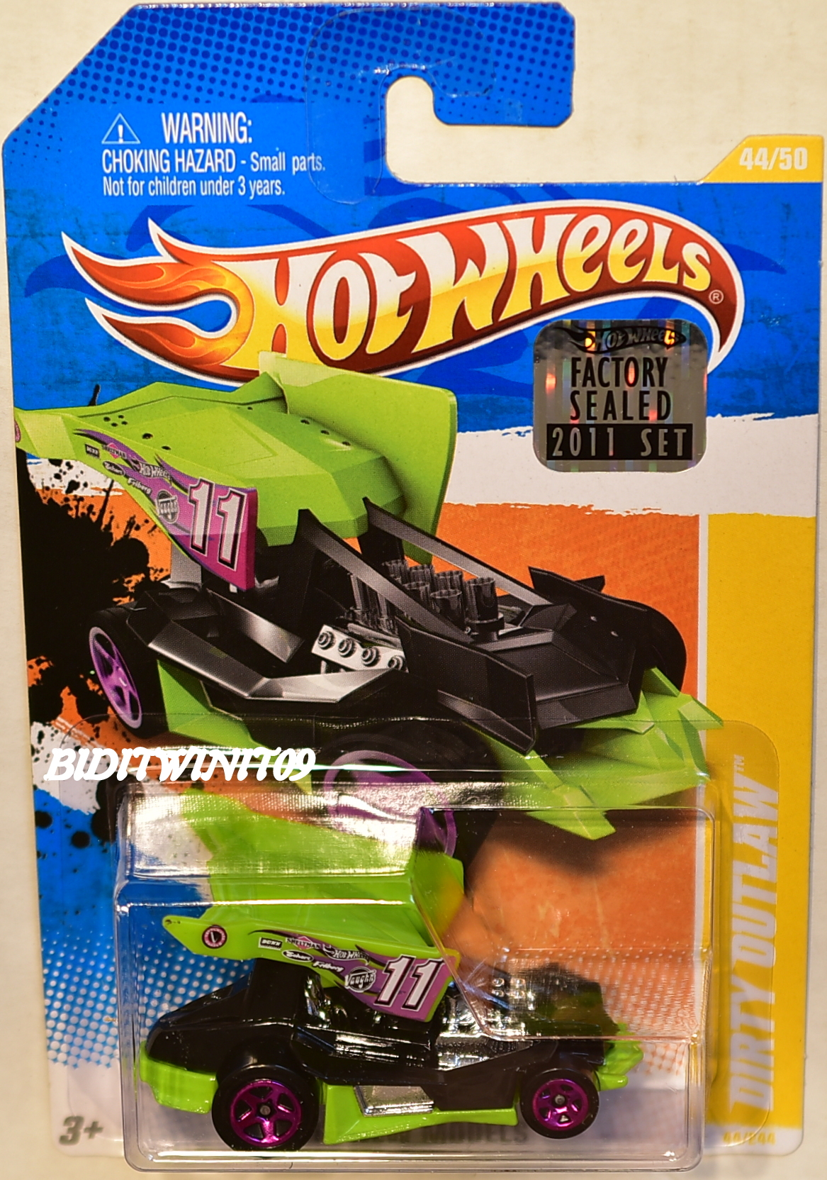 HOT WHEELS 2011 NEW MODELS DIRTY OUTLAW #44/50 FACTORY SEALED