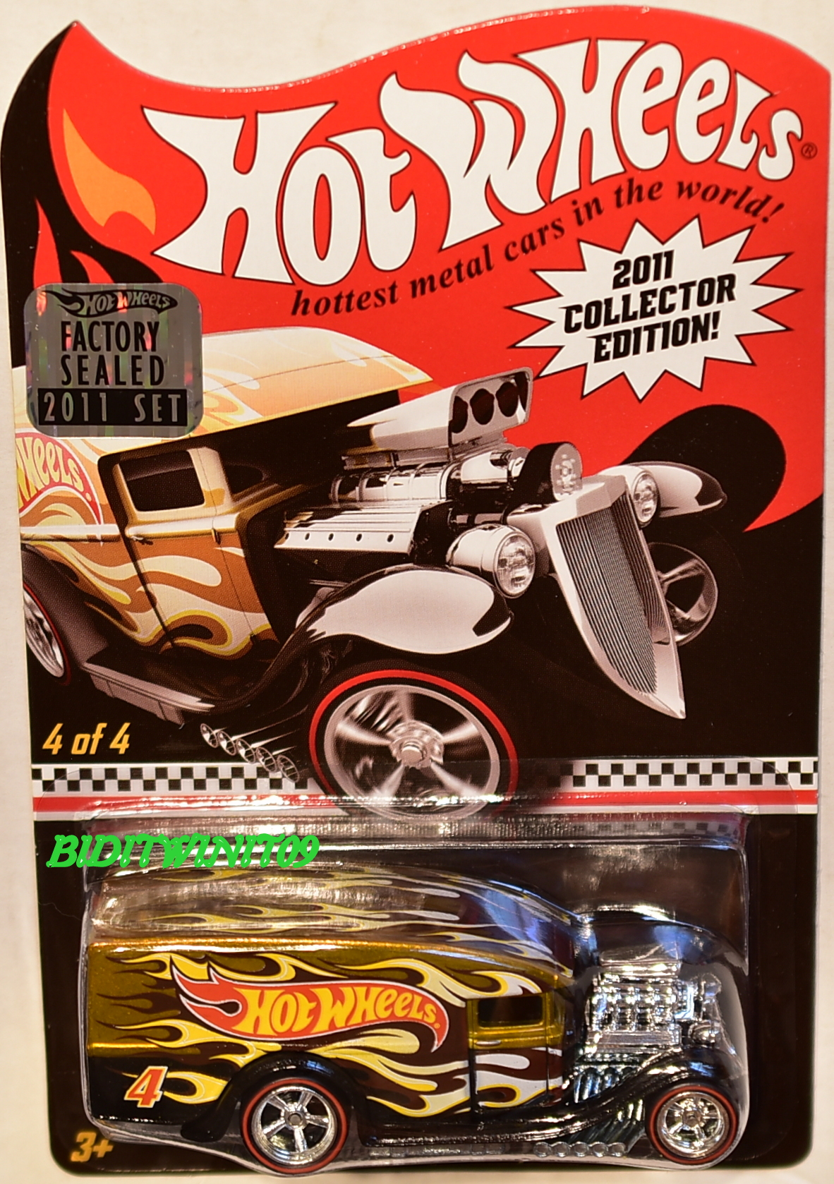 HOT WHEELS 2011 BLOWN DELIVERY KMART EXCLUSIVE #4/4 FACTORY SEALED
