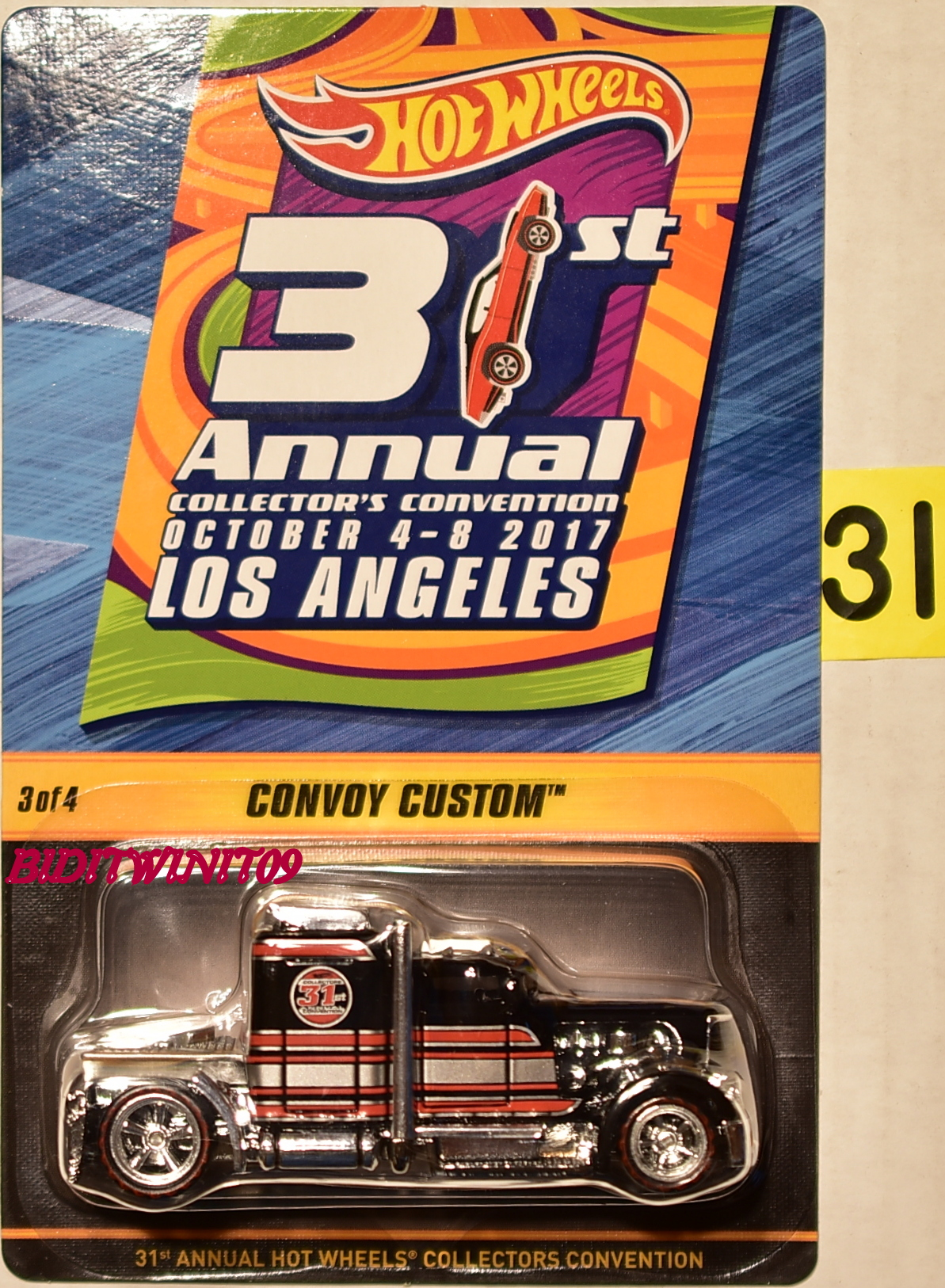 HOT WHEELS 2017 31ST ANNUAL CONVENTION CONVOY CUSTOM #3/4