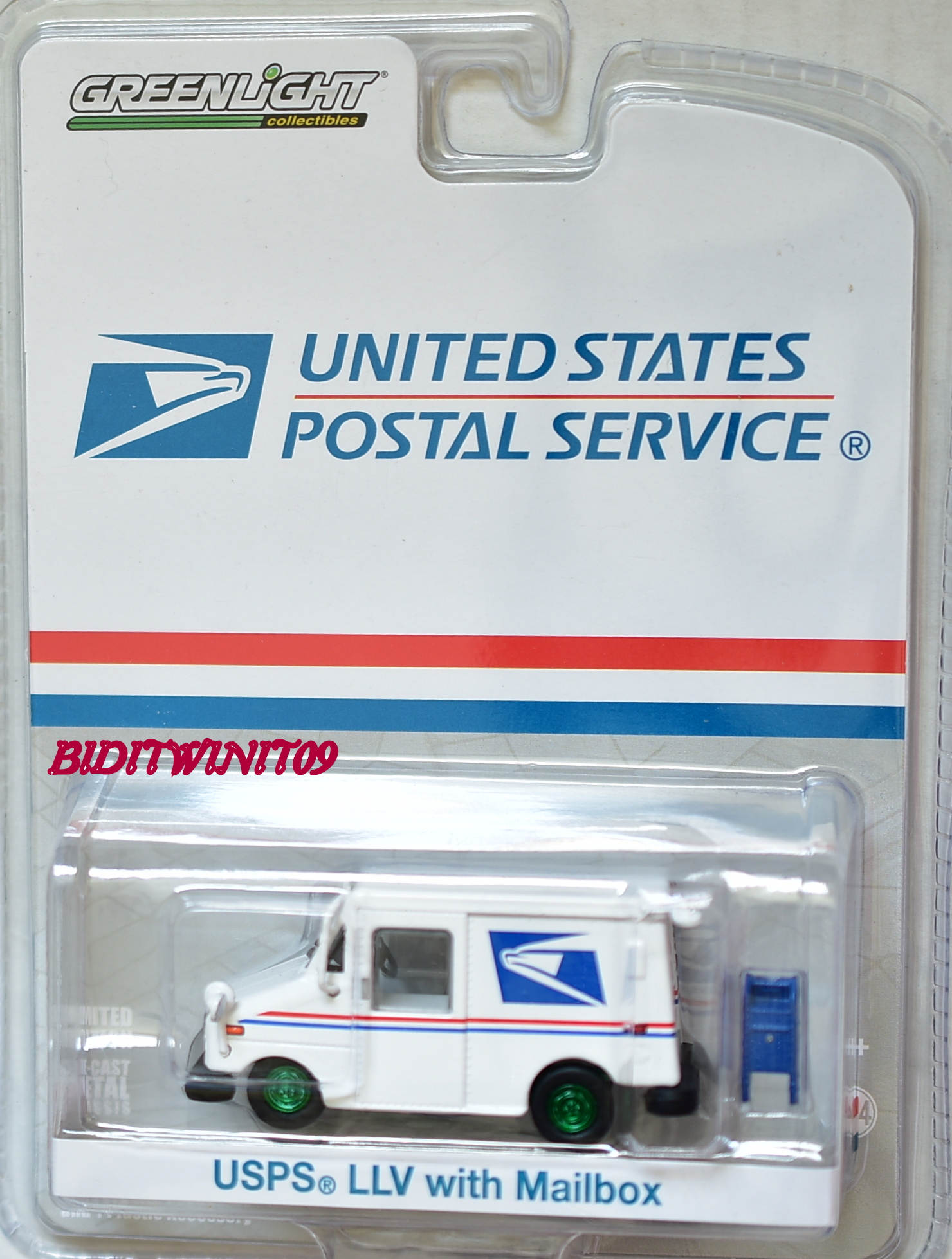GREENLIGHT 2017 USPS POSTAL SERVICE LLV MAIL TRUCK GREEN MACHINE E+