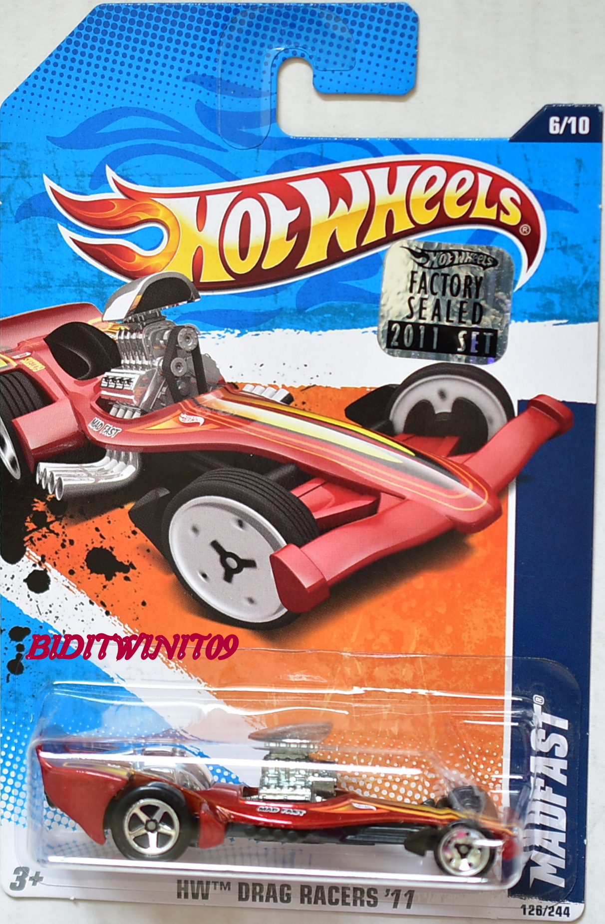 HOT WHEELS 2011 DRAG RACERS MADFAST RED FACTORY SEALED