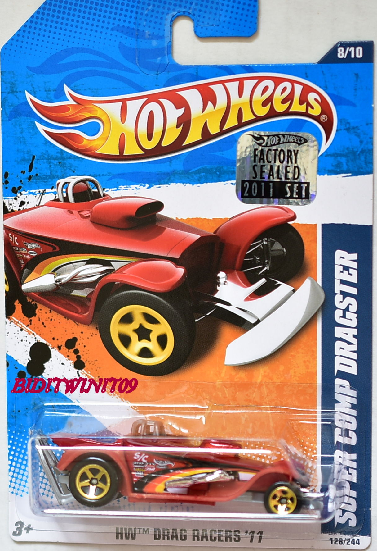HOT WHEELS 2011 DRAG RACERS SUPER COMP DRAGSTER RED FACTORY SEALED