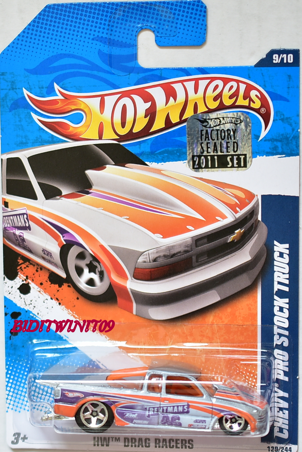 HOT WHEELS 2011 DRAG RACERS CHEVY PRO STOCK TRUCK FACTORY SEALED