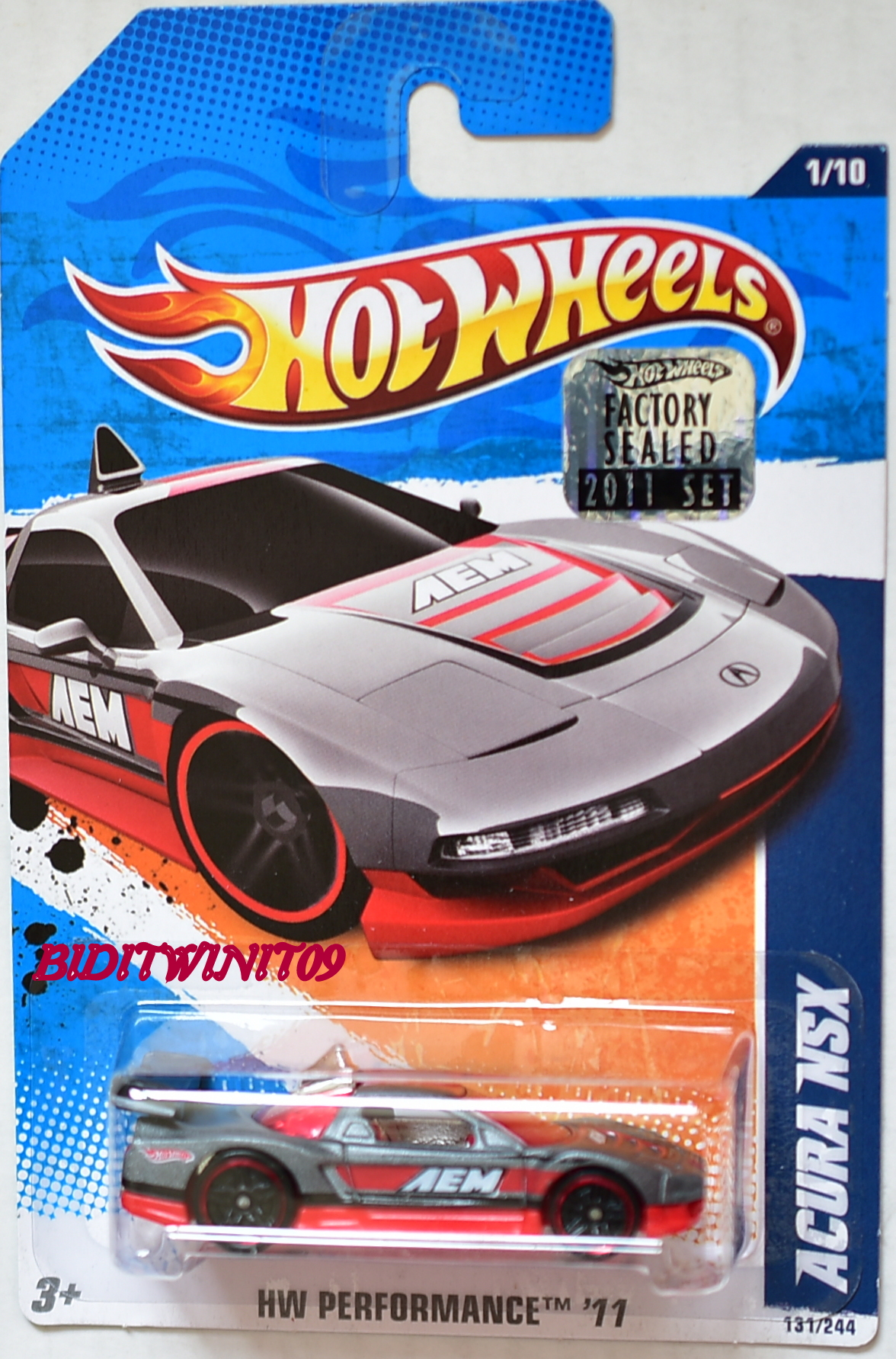 HOT WHEELS 2011 HW PERFORMANCE ACURA NSX FACTORY SEALED