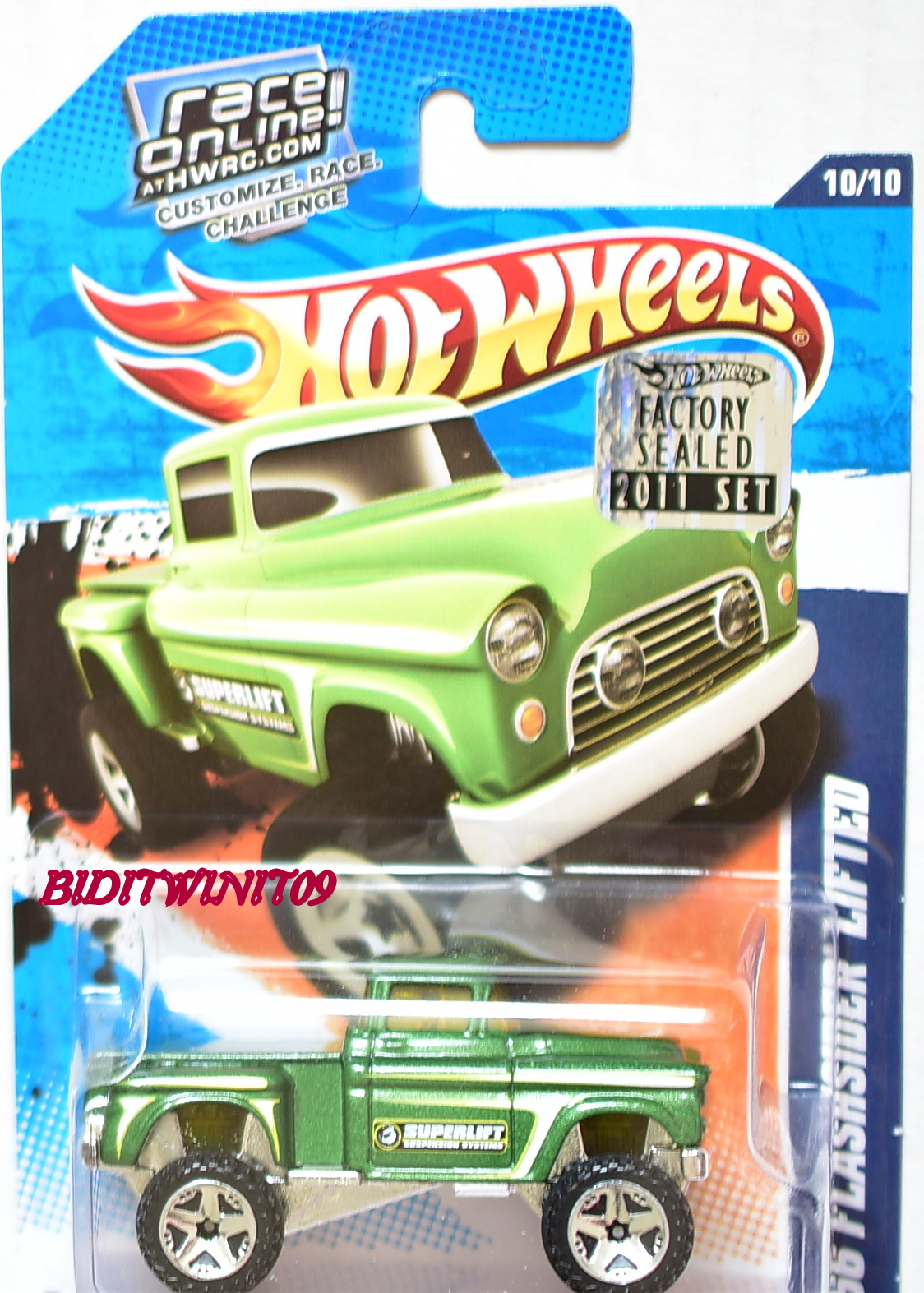 HOT WHEELS 2011 HW PERFORMANCE '56 FLASHSIDER LIFTED GREEN FACTORY SEALED