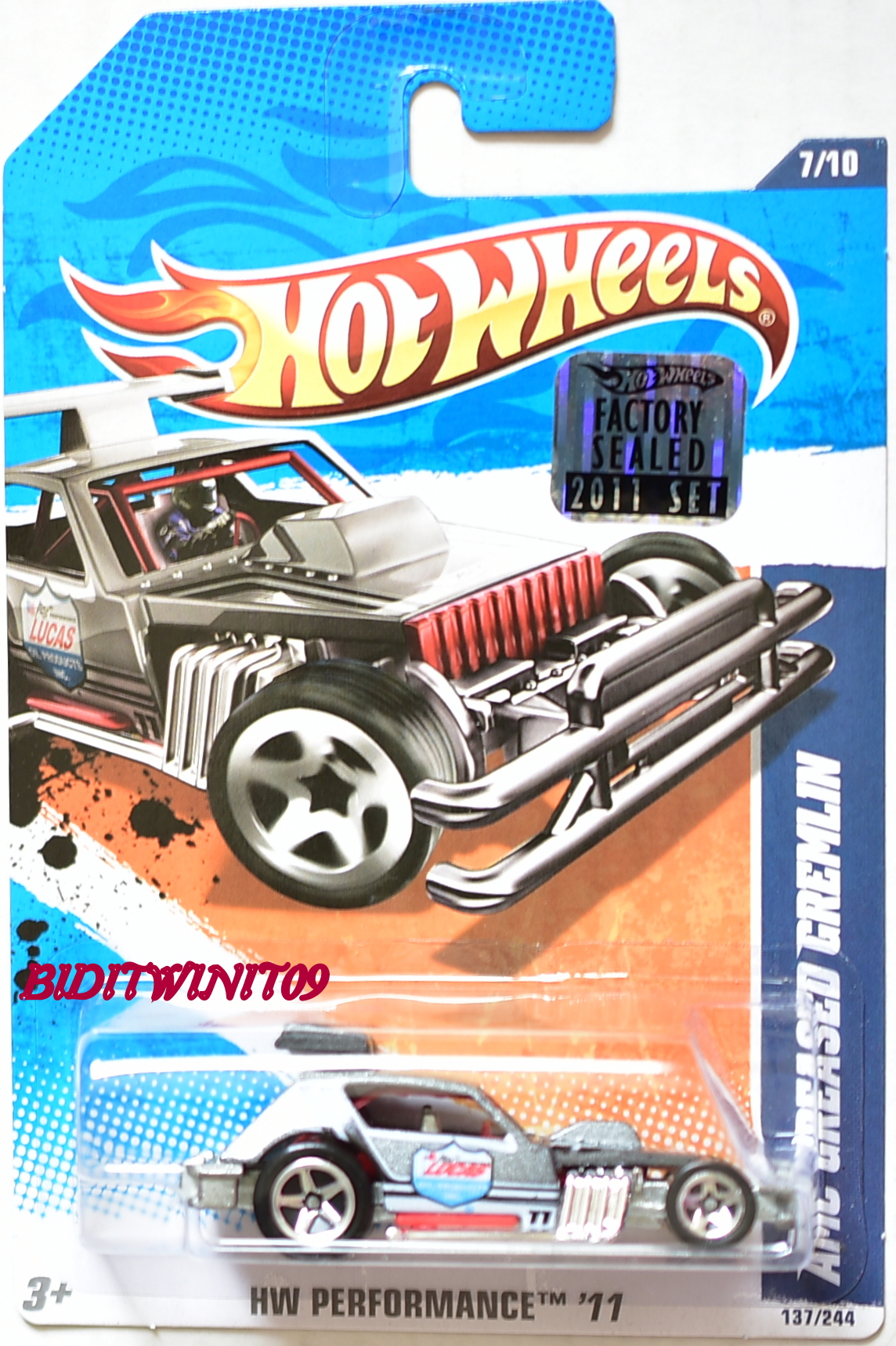HOT WHEELS 2011 HW PERFORMANCE AMC GREASED GREMLIN FACTORY SEALED