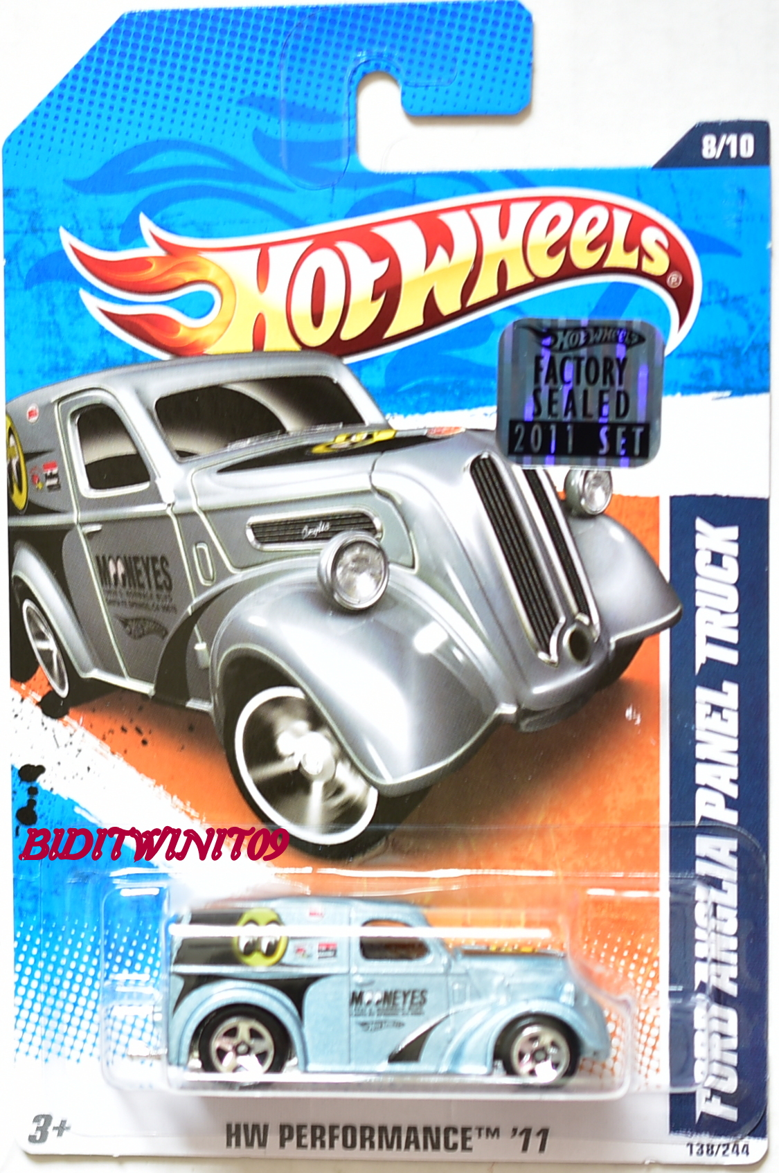 HOT WHEELS 2011 HW PERFORMANCE FORD ANGLIA PANEL TRUCK MOONEYES FACTORY SEALED