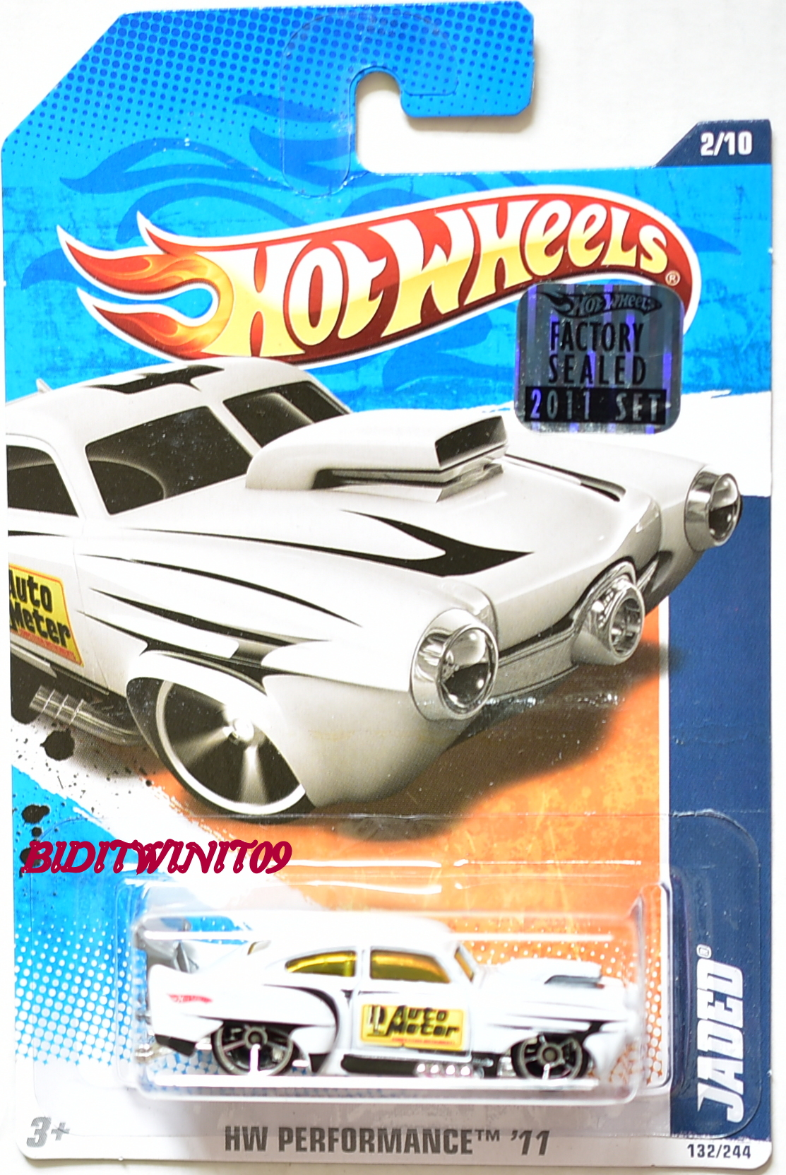 HOT WHEELS 2011 HW PERFORMANCE JADED #2/10 WHITE FACTORY SEALED