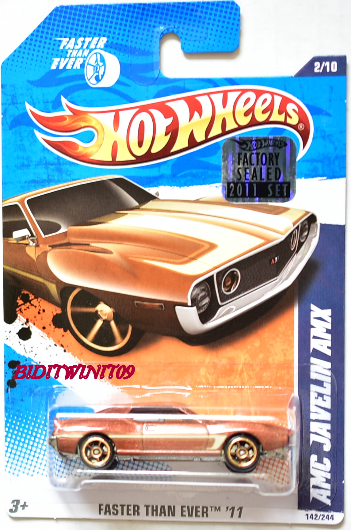 HOT WHEELS 2011 FTE AMC JAVELIN AMX BROWN KMART FACTORY SEALED