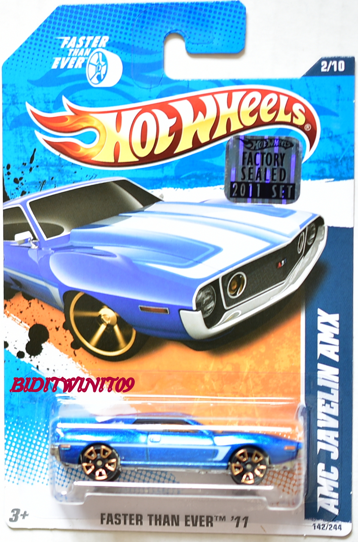 HOT WHEELS 2011 FTE AMC JAVELIN AMX BLUE KMART FACTORY SEALED