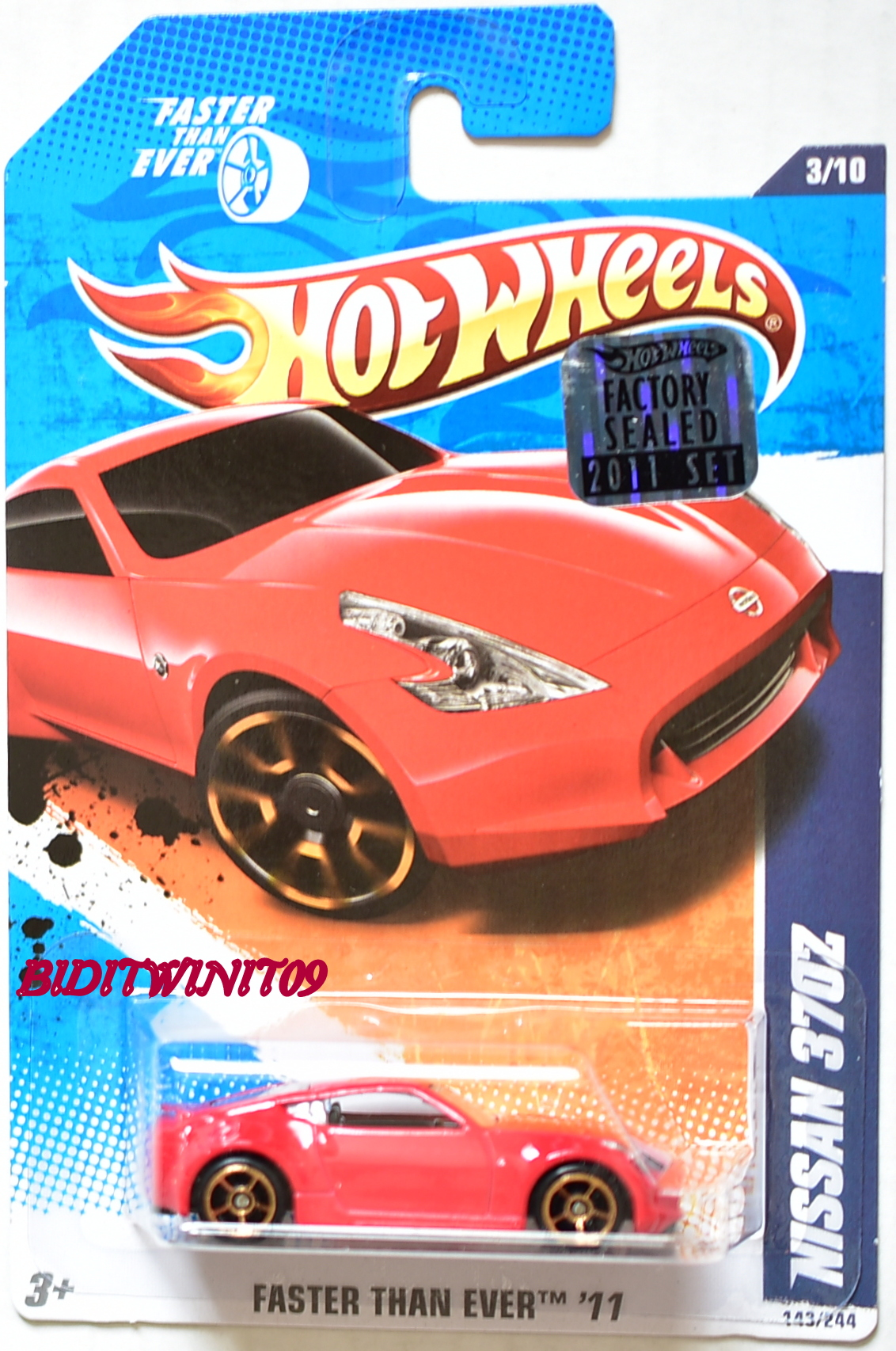 HOT WHEELS 2011 FTE NISSAN 370Z RED FACTORY SEALED - Click Image to Close