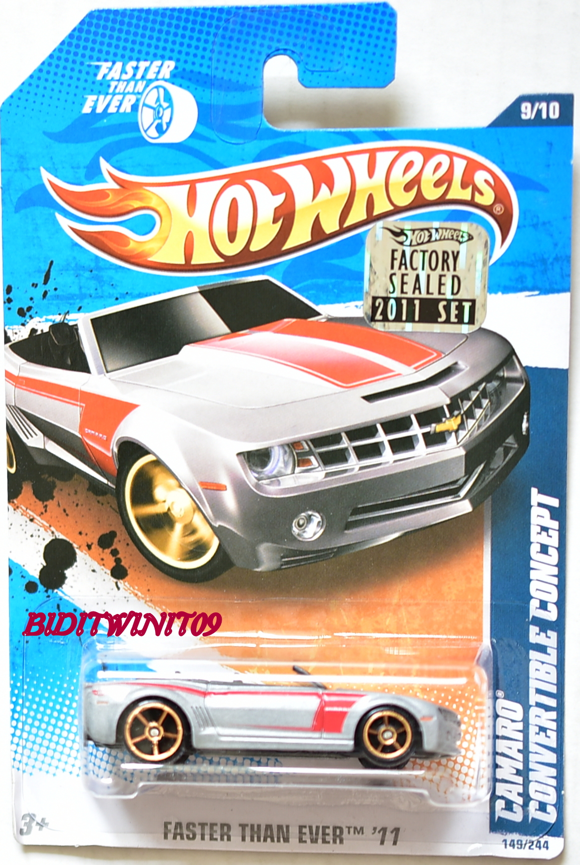 HOT WHEELS 2011 FTE CAMARO CONVERTIBLE CONCEPT FACTORY SEALED