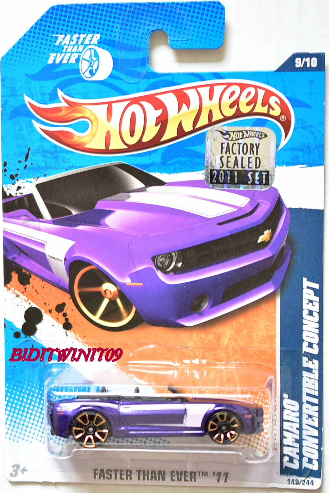 HOT WHEELS 2011 FTE CAMARO CONVERTIBLE CONCEPT PURPLE FACTORY SEALED