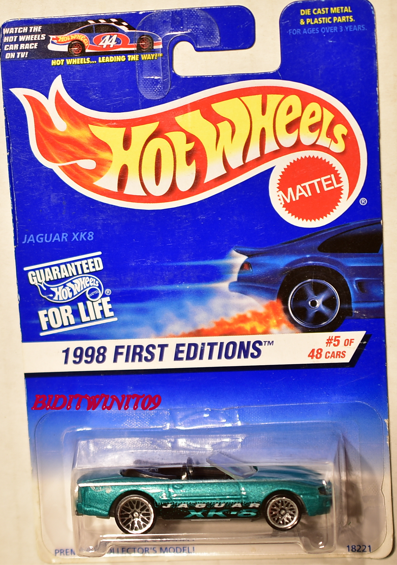 HOT WHEELS 1998 JAGUAR XK8 #5/48 FIRST EDITIONS