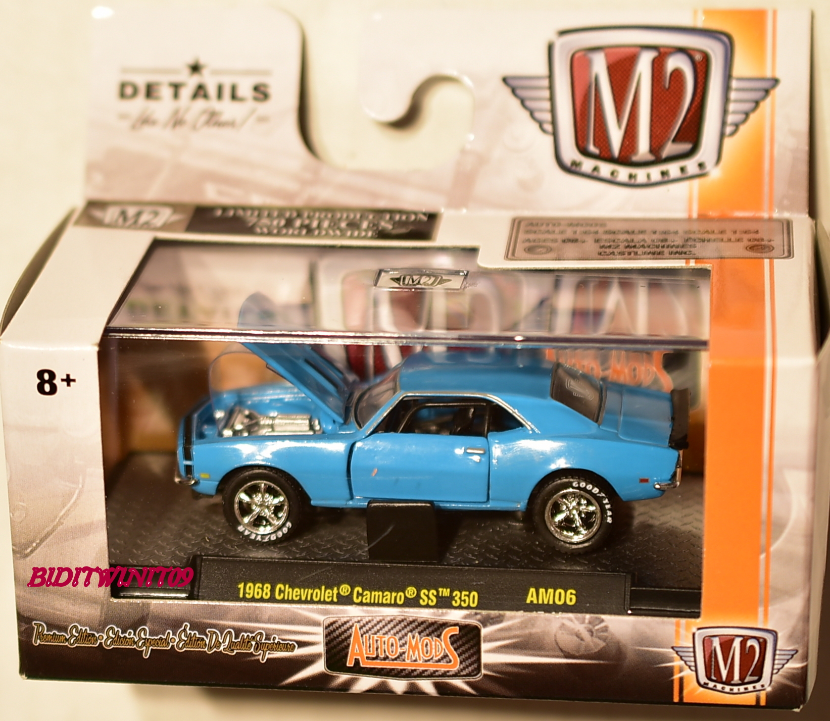 M2 Machines 2017 Auto Mods 1968 Chevrolet Camaro Ss 350 Am06 Chase Muscle Car E