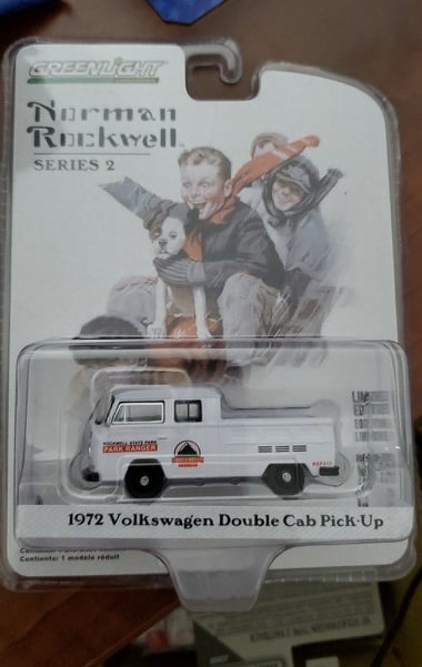 GREENLIGHT NORMAN ROCKWELL SERIES 2 1972 VOLKSWAGEN DOUBLE CAB PICK-UP