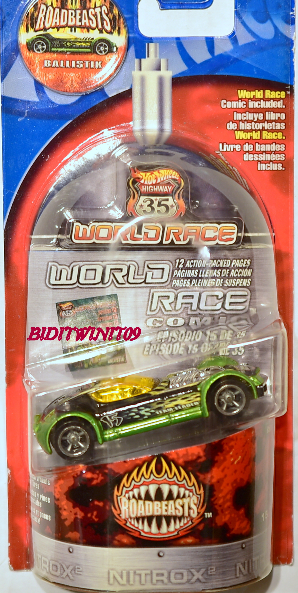 HOT WHEELS HIGHWAY 35 WORLDRACE ROADBEASTS BALLISTIK #15/35