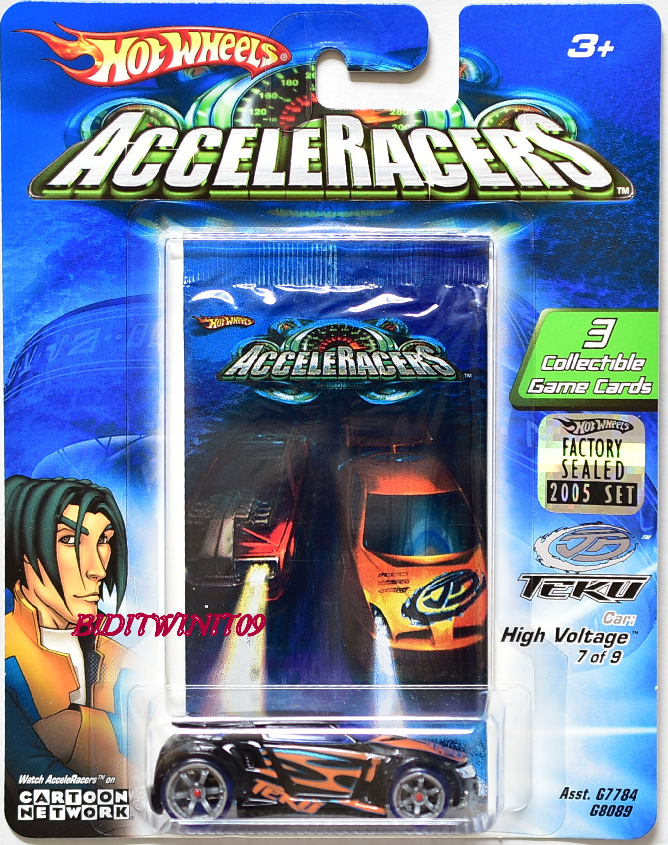 HOT WHEELS ACCELERACERS TEKU HIGH VOLTAGE 7/9 FACTORY SEALED