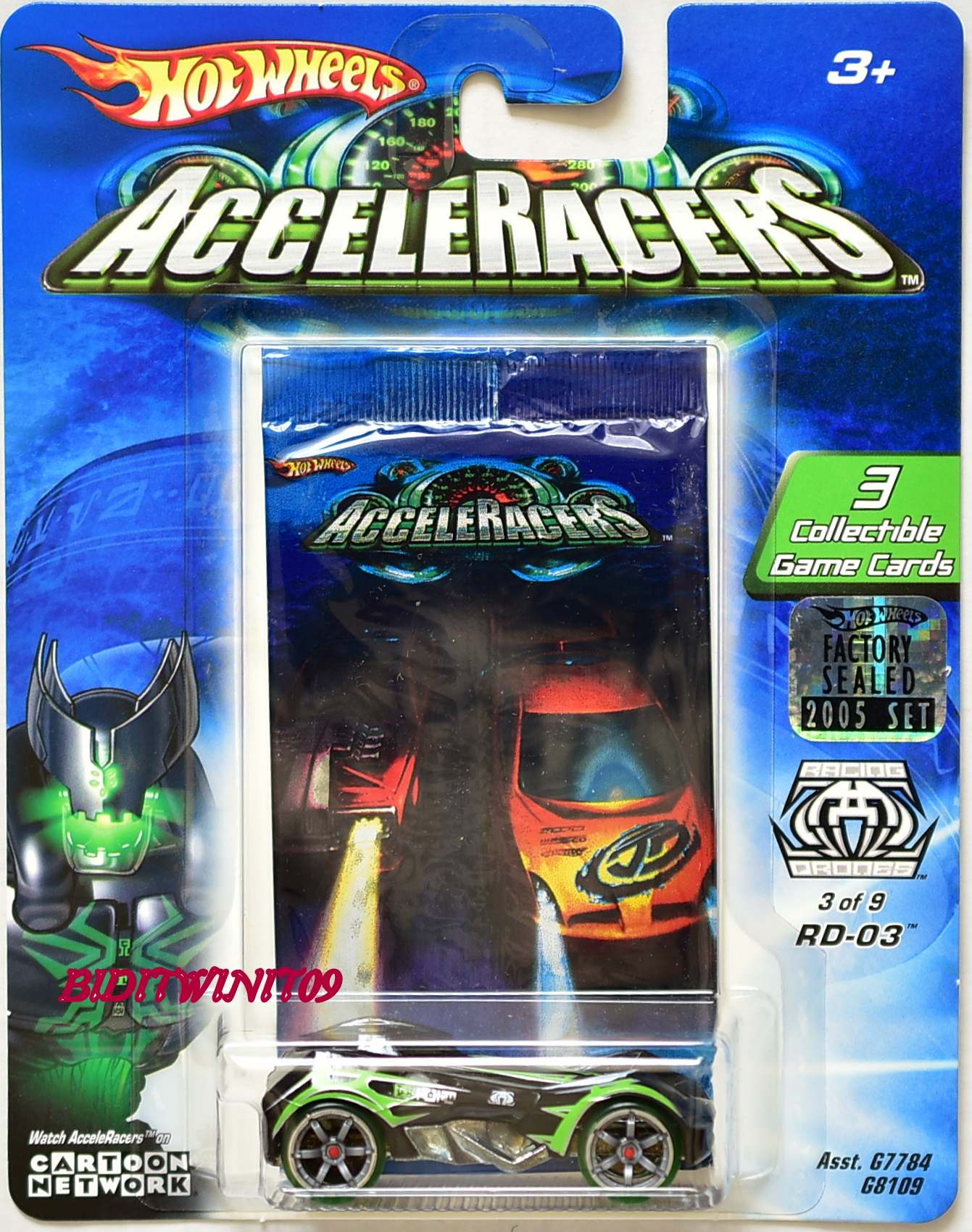 HOT WHEELS 2005 ACCELERACERS RD-03 #3/9 FACTORY SEALED E+